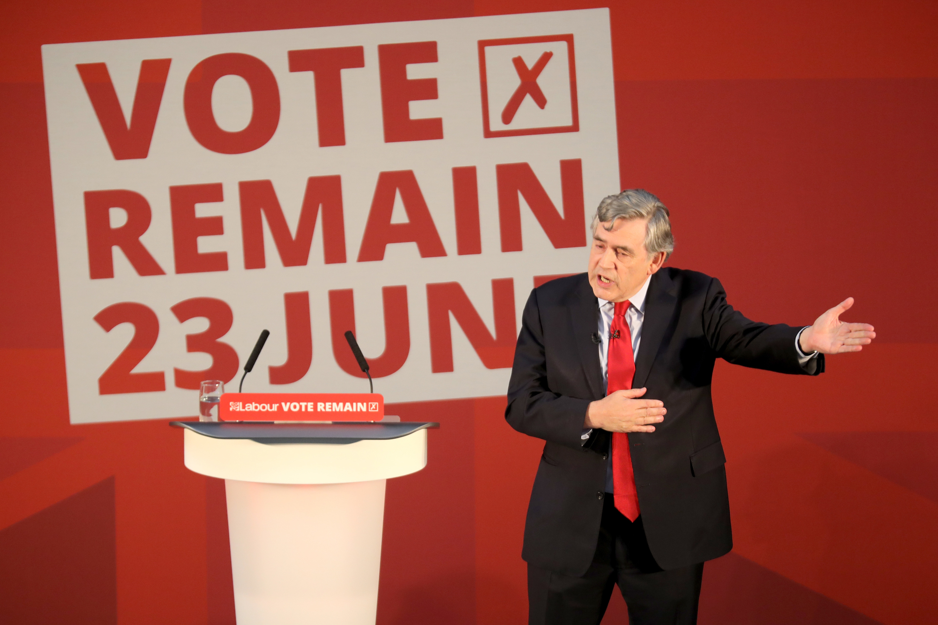 Gordon Brown is urging voters to choose to remain in the EU.