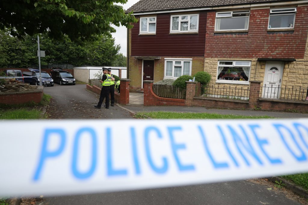 BIRSTALL, ENGLAND - JUNE 16: Police cordon off the scene at the suspect's home after Jo Cox, 41, Labour MP for Batley and Spen, was killed by an attacker at her constituicency on June 16, 2016 in Birstall, England. A man also suffered slight injuries during the attack. Jo Cox was reportedly shot and stabbed while holding her weekly surgery at Birstall Library, Birstall near Leeds and has died in hospital. A 52-year old man has been arrested in connection with the crime. (Photo by Christopher Furlong/Getty Images)