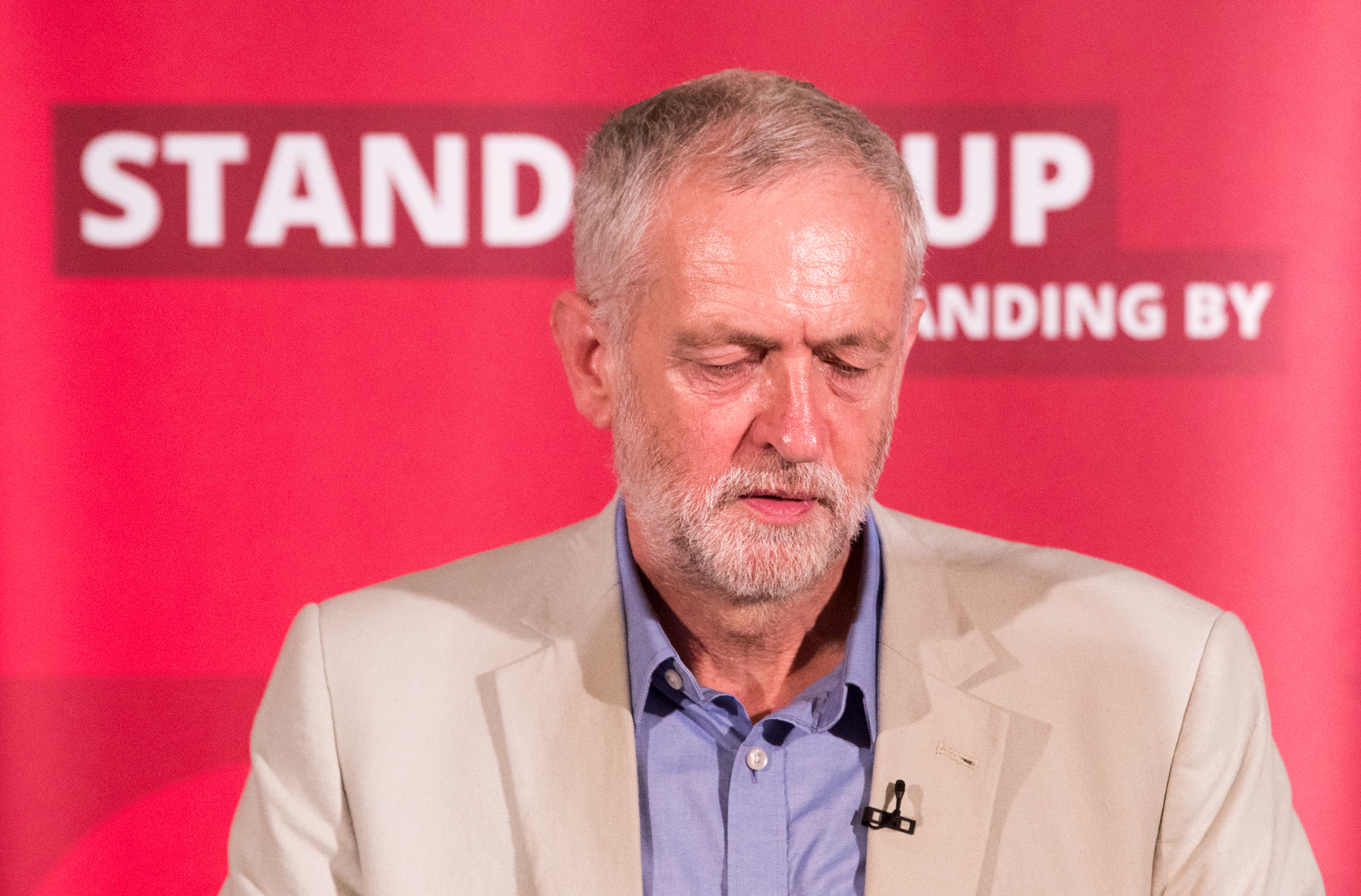 Under pressure — Jeremy Corbyn is vowing to stay put.