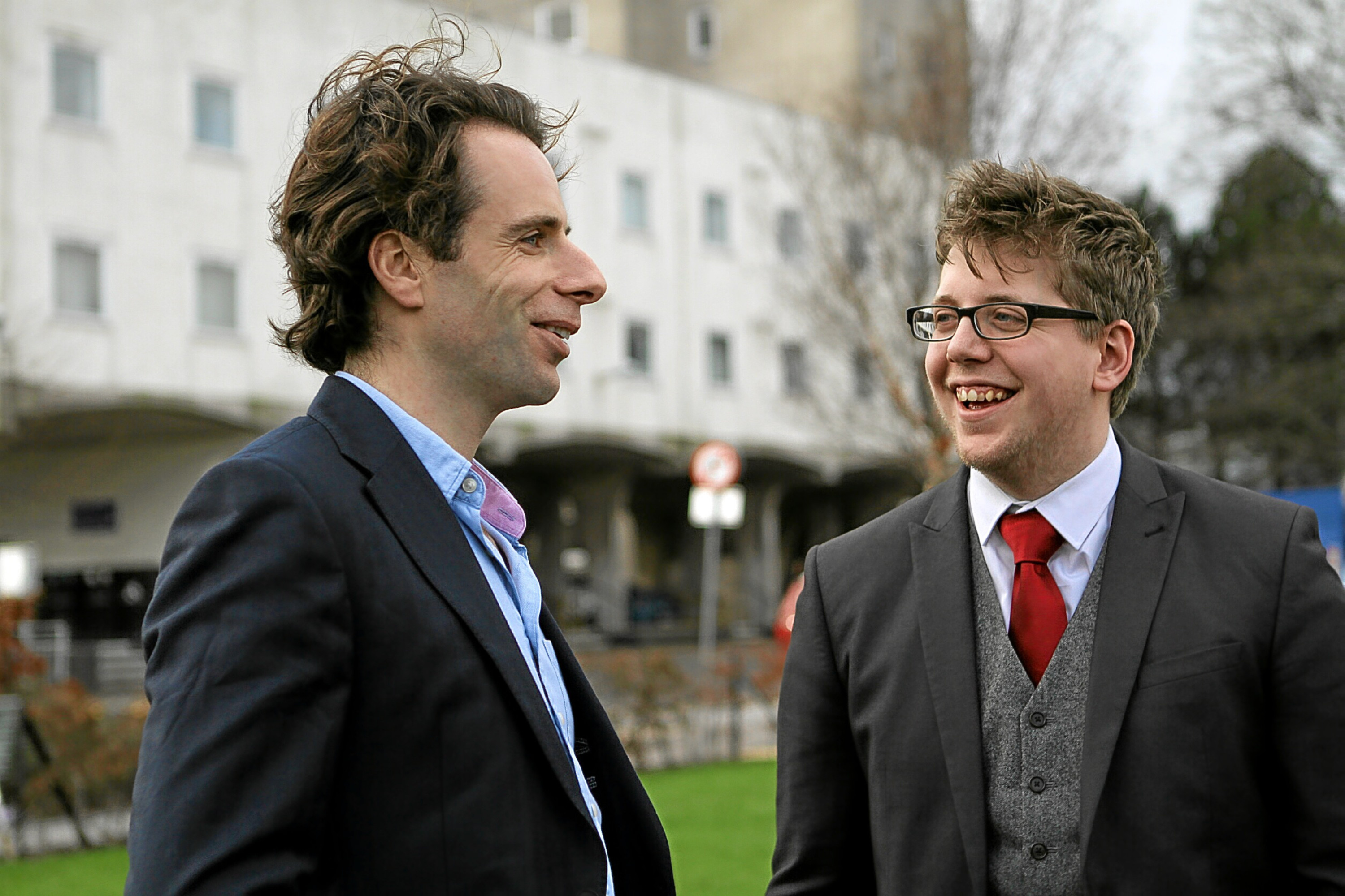 Mark Beaumont chatting with Tim Hustler - president of DUSA