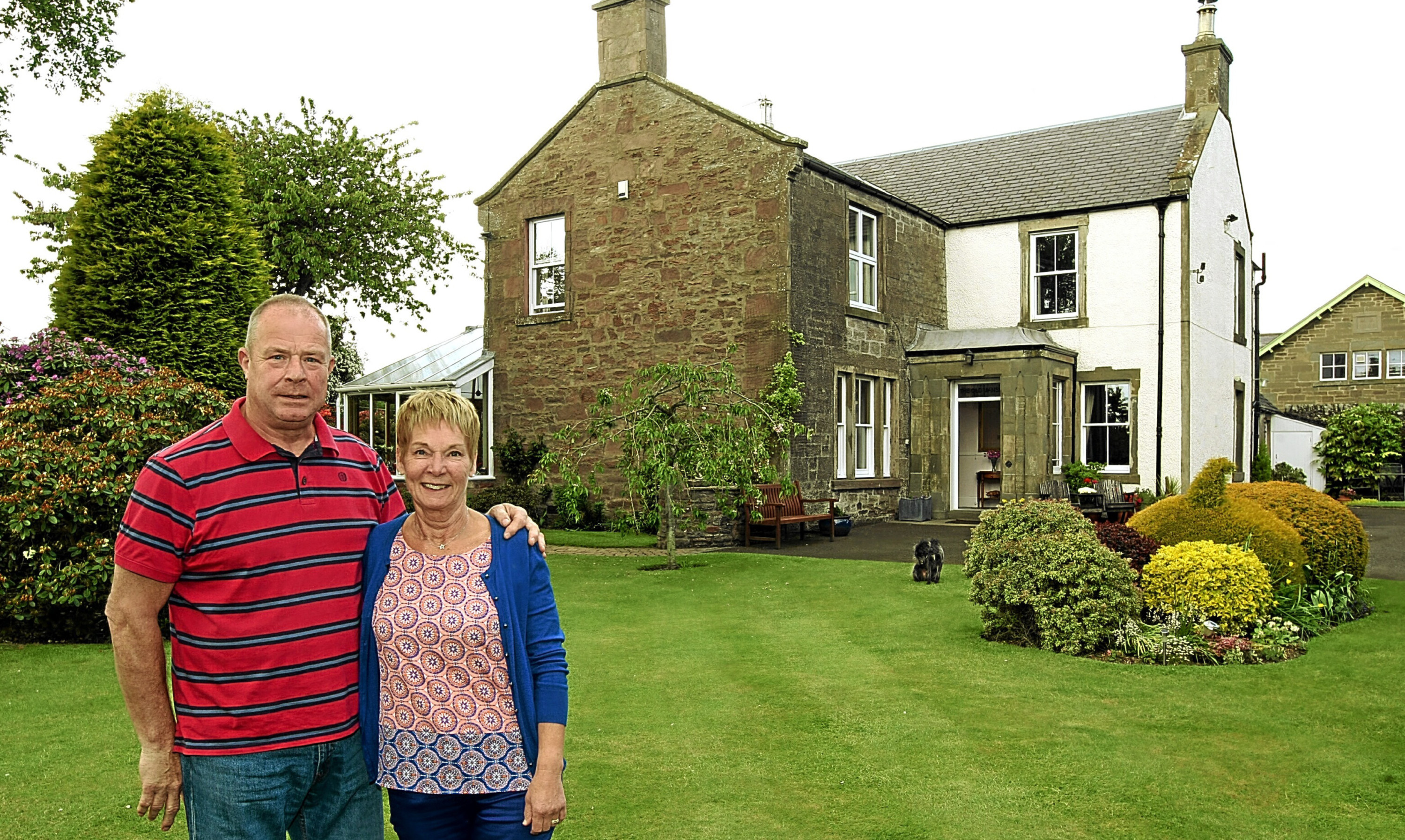 Graham and Liz Haig at the Old Manse