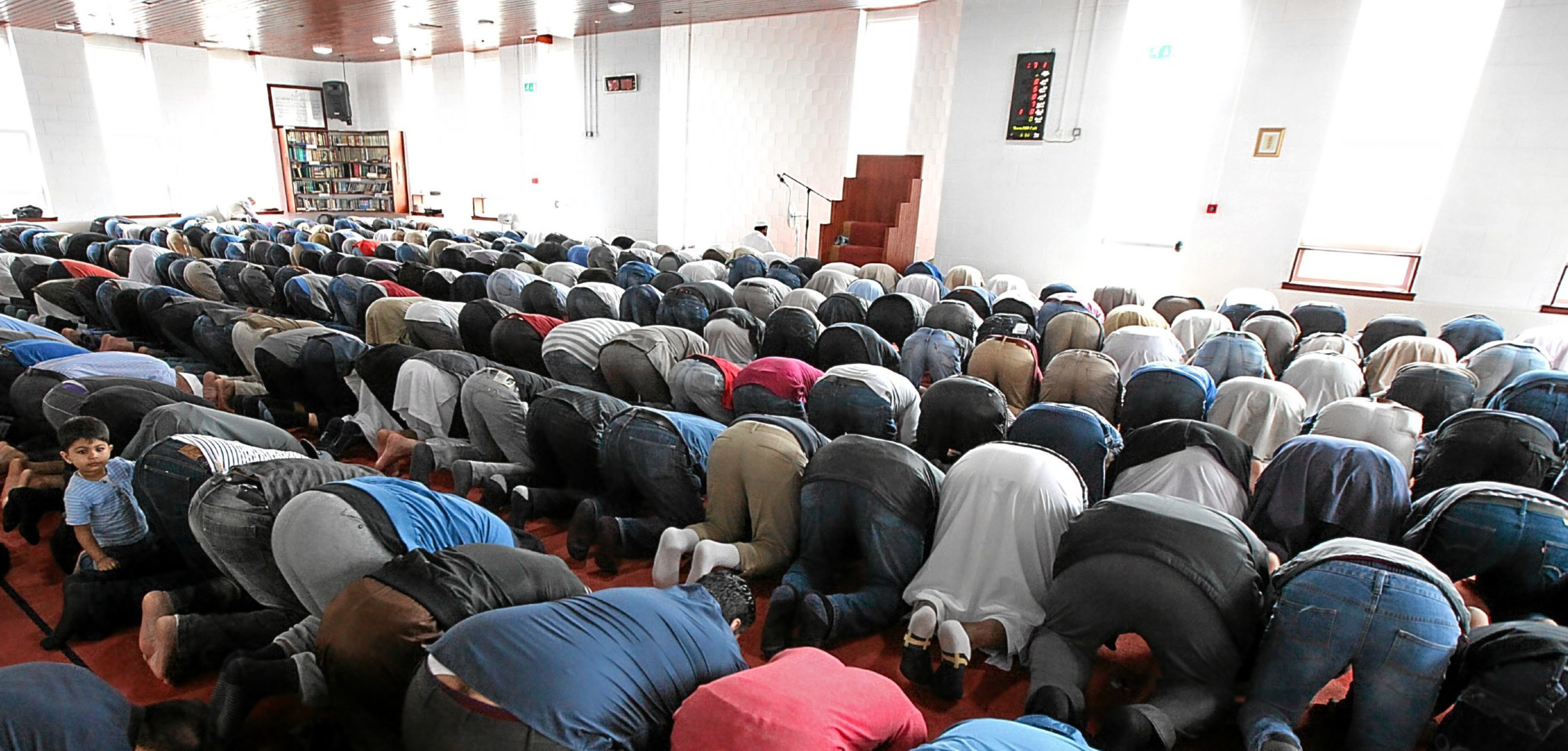 Muslims praying at another mosque.