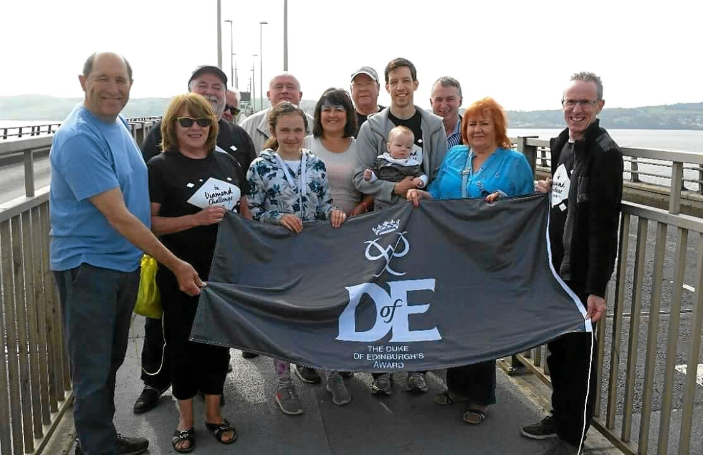 Dundee City Councillors cross Tay Bridge for Duke of Edinburgh awards.