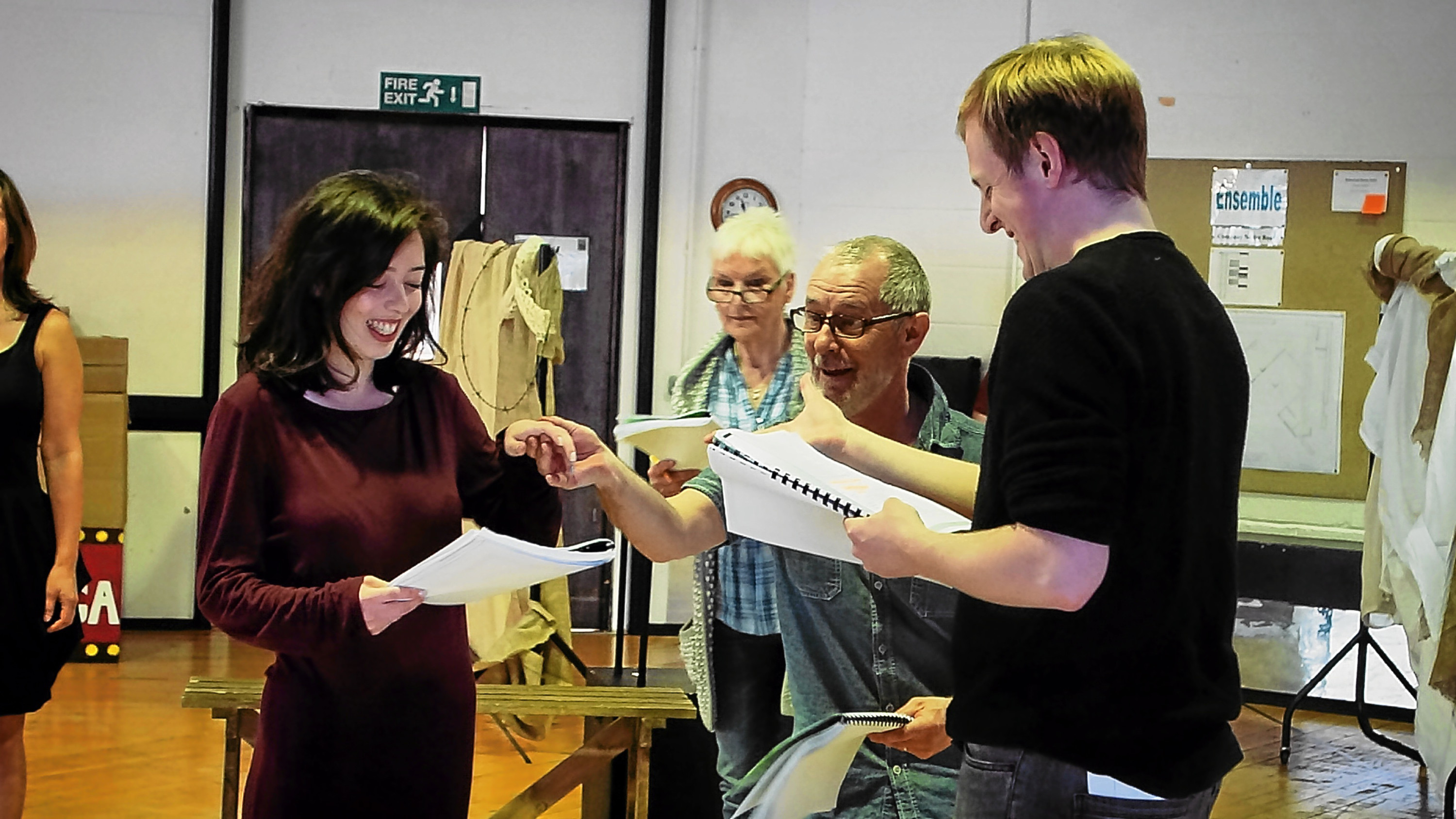 Much Ado About Nothing rehearsals at the Dundee Rep