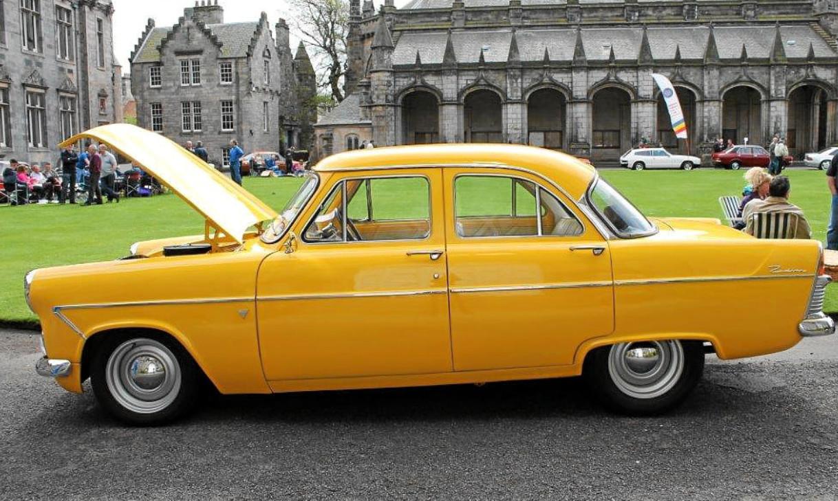 Dave McGill's Fiat Broom Yellow 1958 Ford Zodiac Mark II Hi-Line.