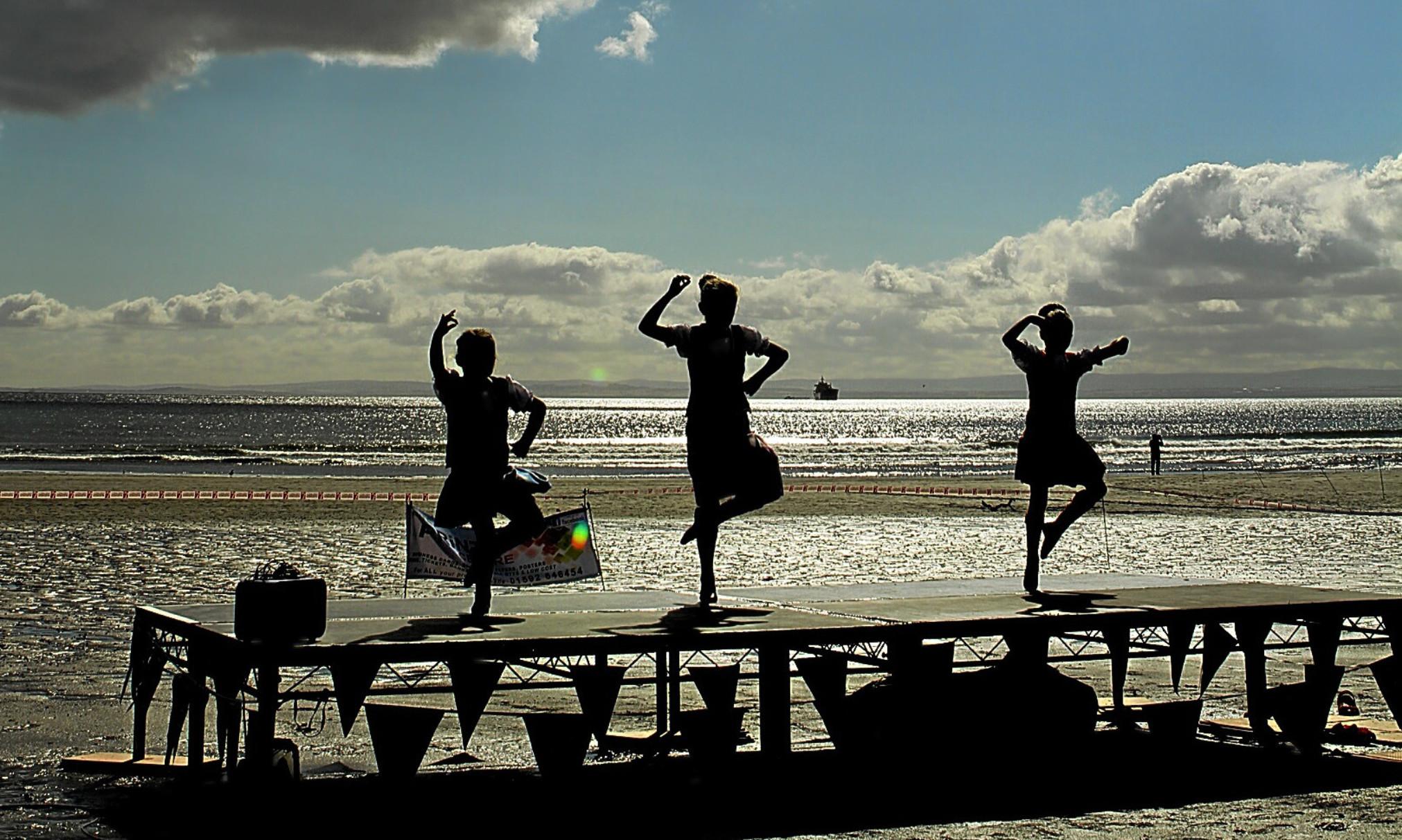 Dancers at a previous Kirkcaldy Beach Highland Games.