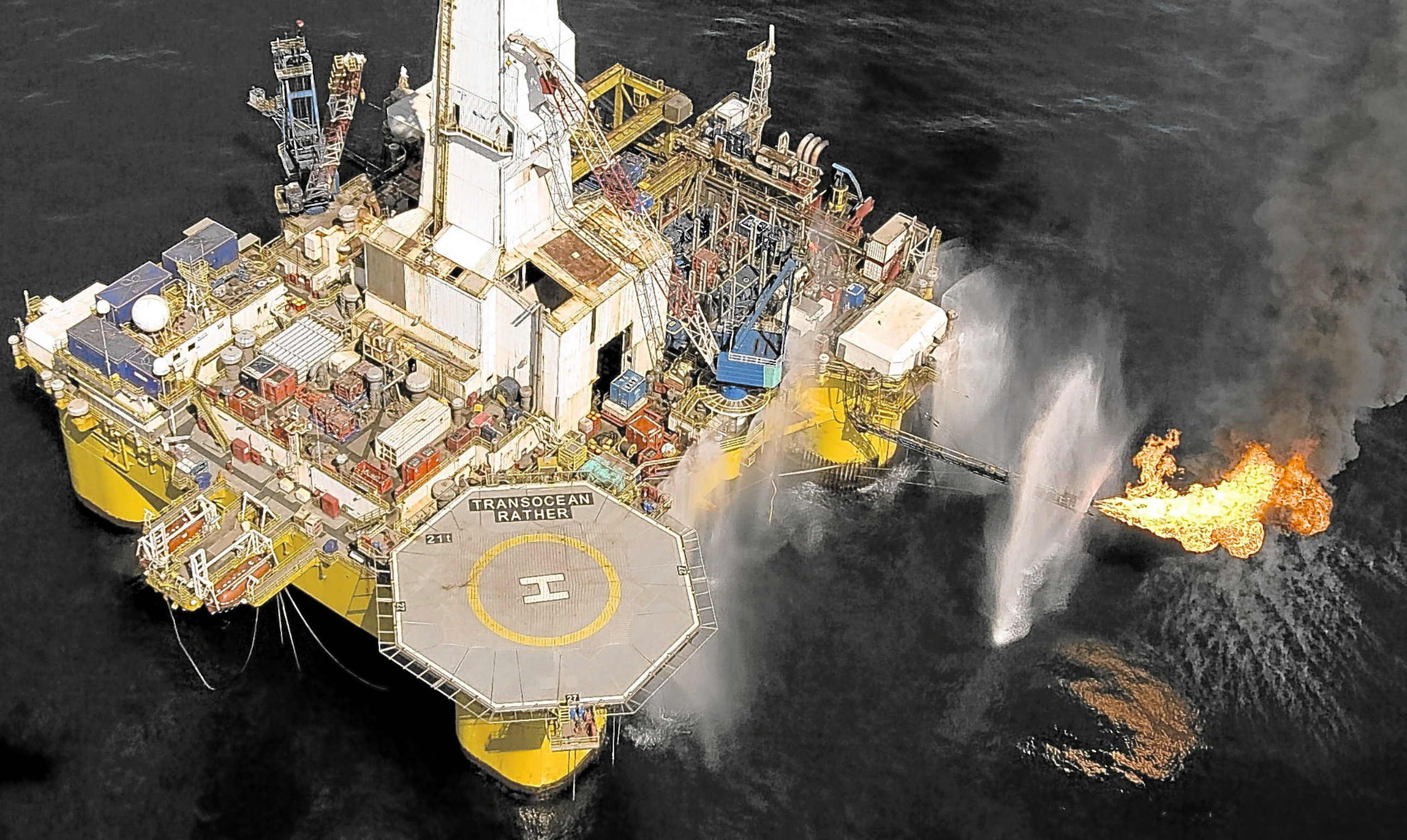 A North Sea oil rig in the West of Shetland oil play