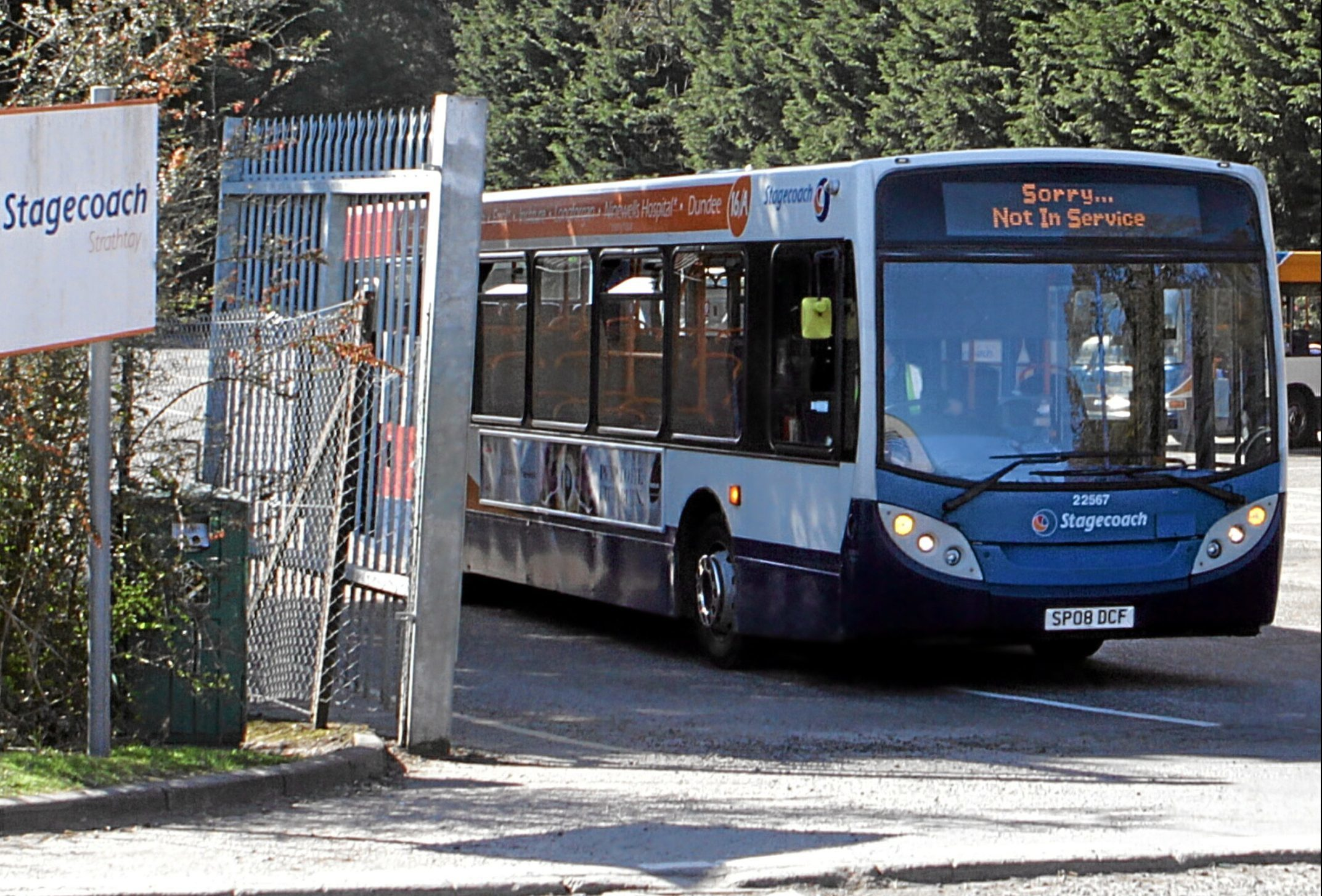 The Stagecoach depot on Smeaton Road is to close.