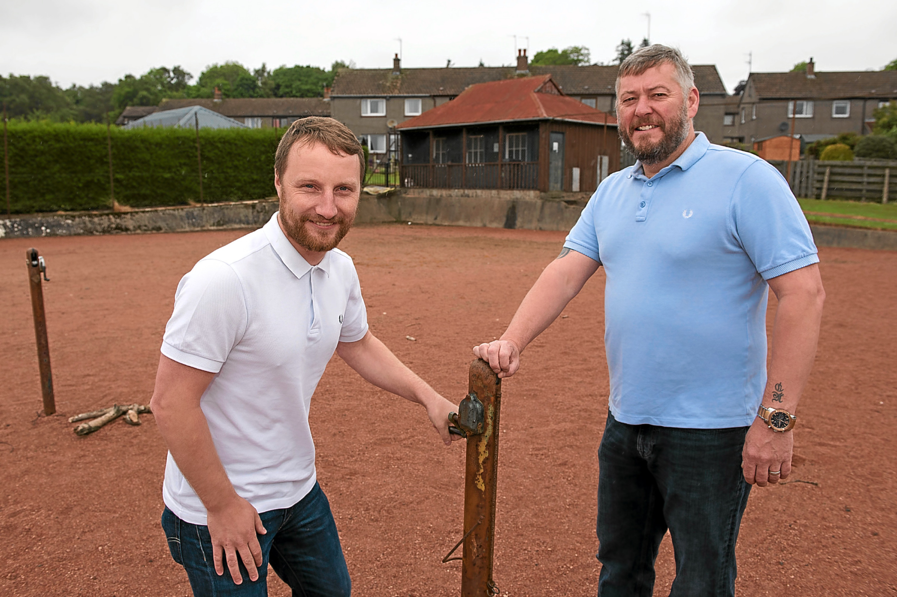 David Morris and Nomie from the Braes Hillside Sports Project.