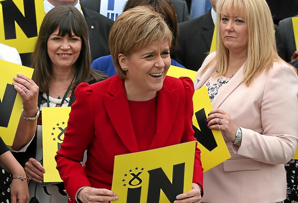 Nicola Sturgeon adamantly wants to stay in Europe but is there a temptation among some Nationalists to want  to leave?