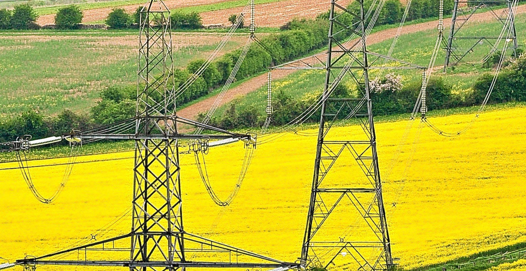 A power cut hit homes.
