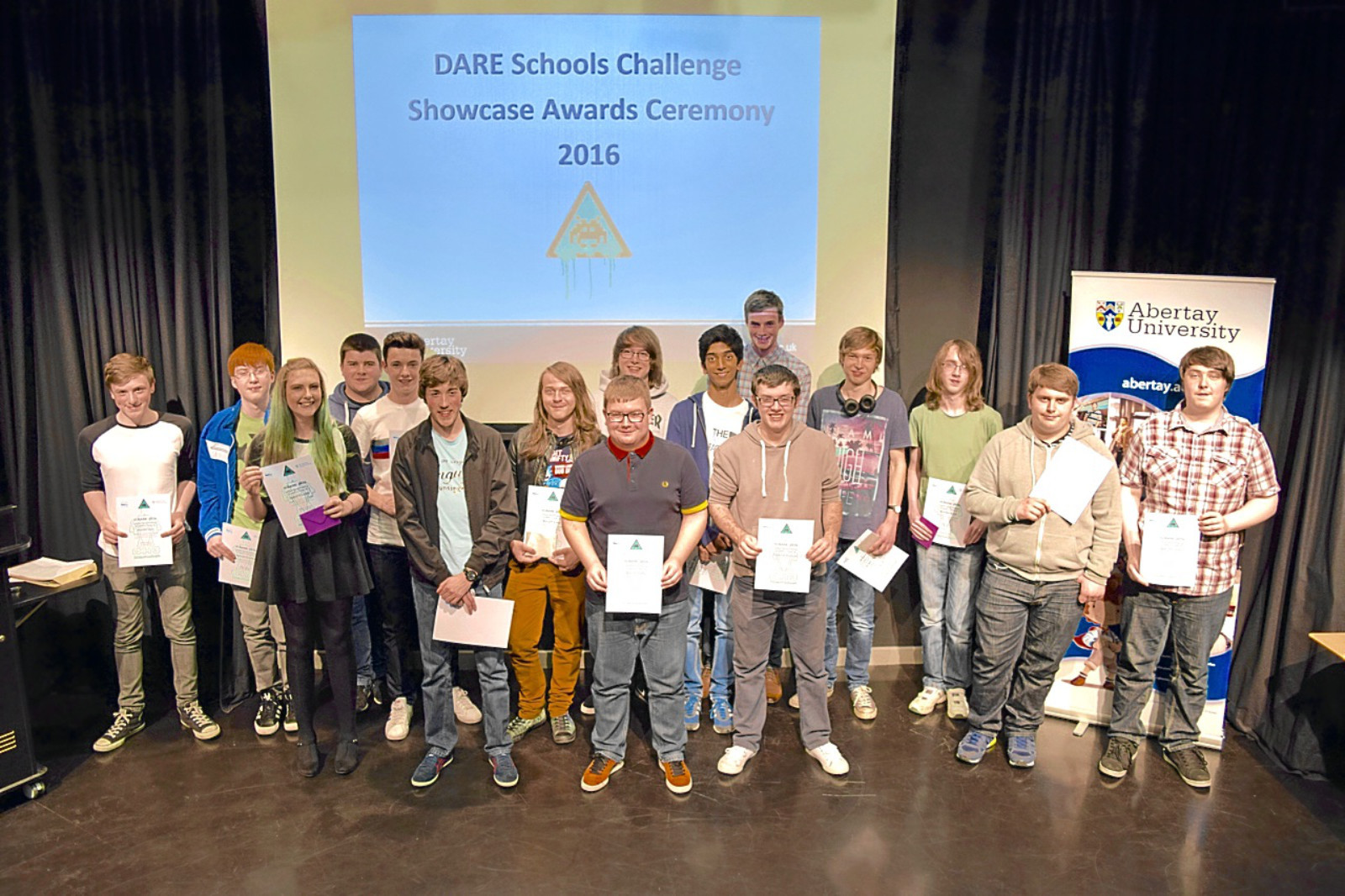 Pupils from Craigie, St Paul's, Harris, Grove and Baldragon took part in the 13th annual Dare Schools Team Challenge at Abertay University.