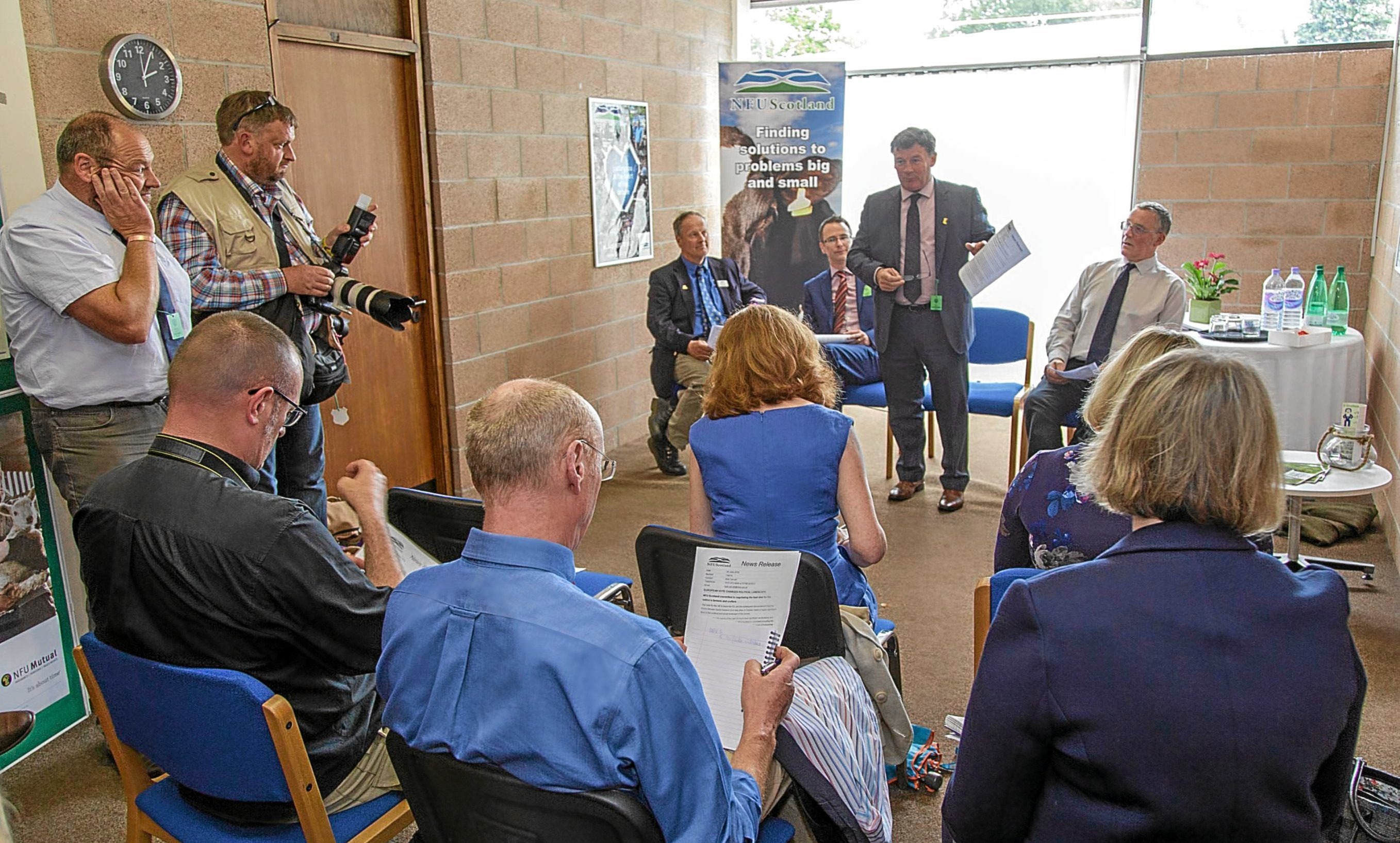 The NFUS press briefing followed the vote for Brexit.
