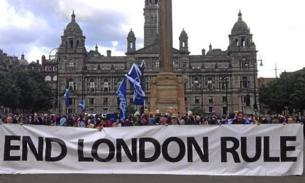 Supporters of Scottish independence gathered in George Square, Glasgow following the vote for the UK to leave the European Union.
