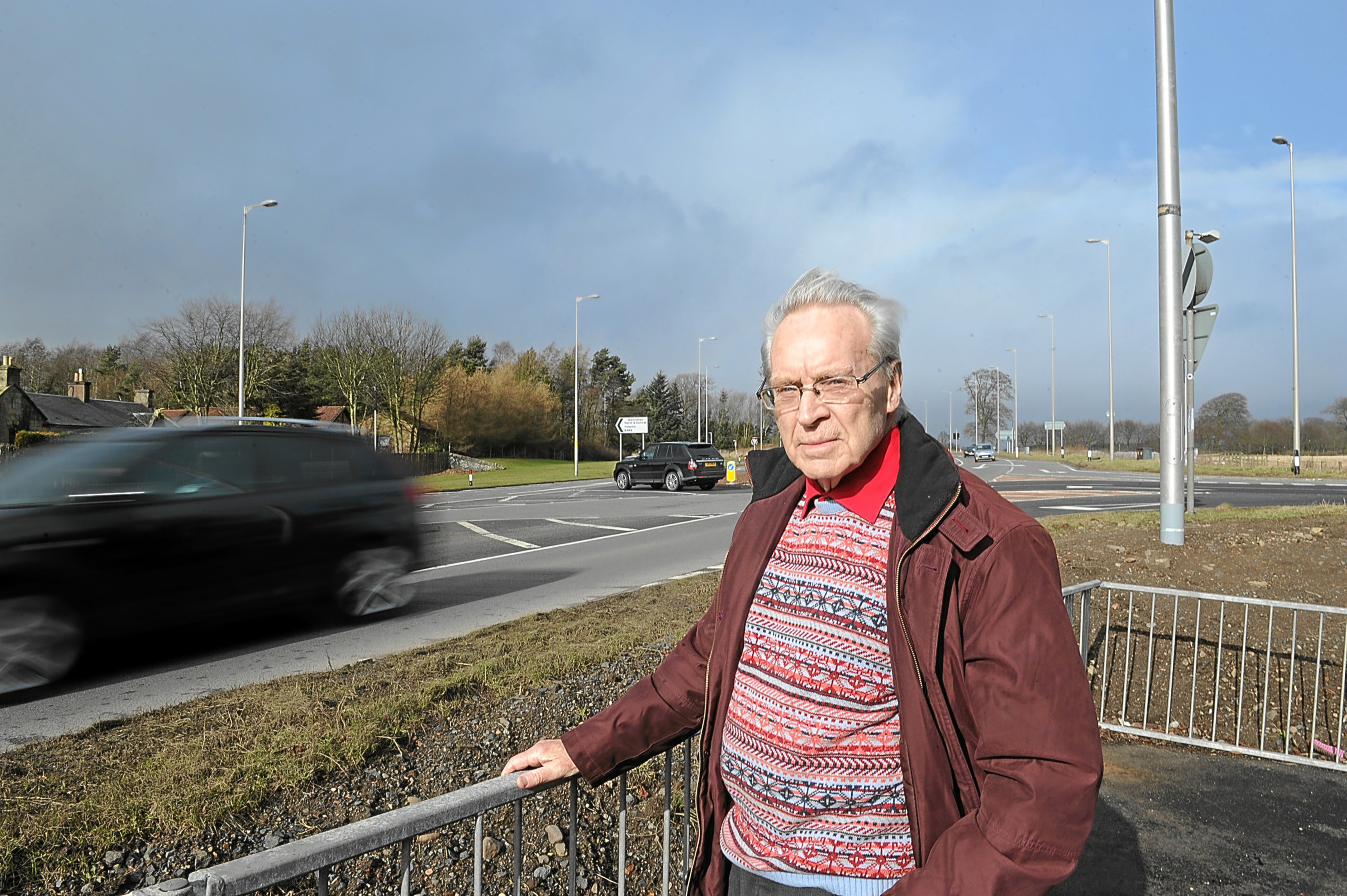 Ron Page who is campaigning for safety improvements to the road