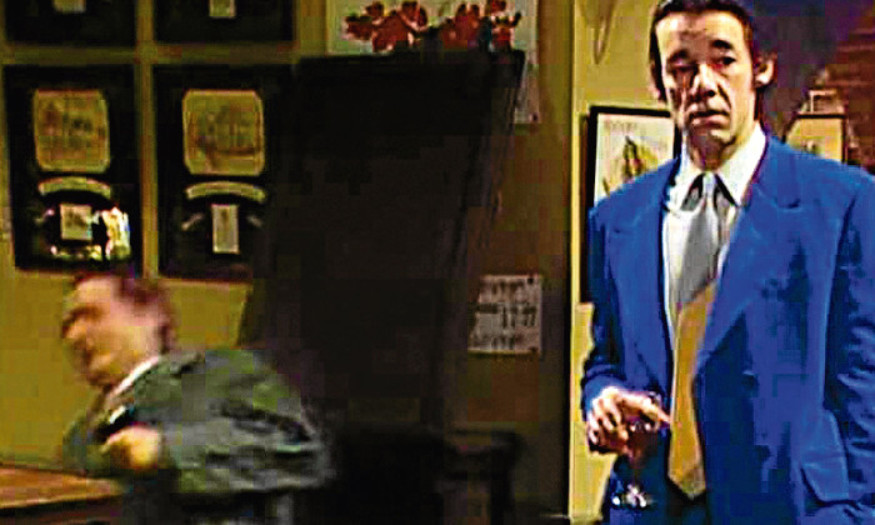 Del Boy falls through the bar top in a classic episode of Only Fools and Horses