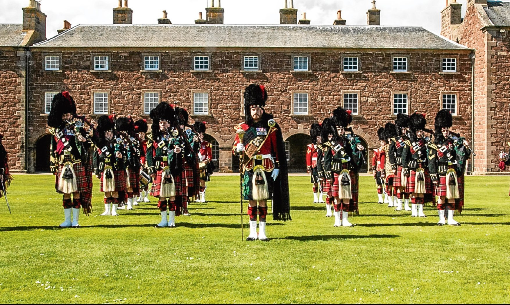 Soldiers from The Black Watch (3rd Battalion, The Royal Regiment of Scotland) at Fort George.