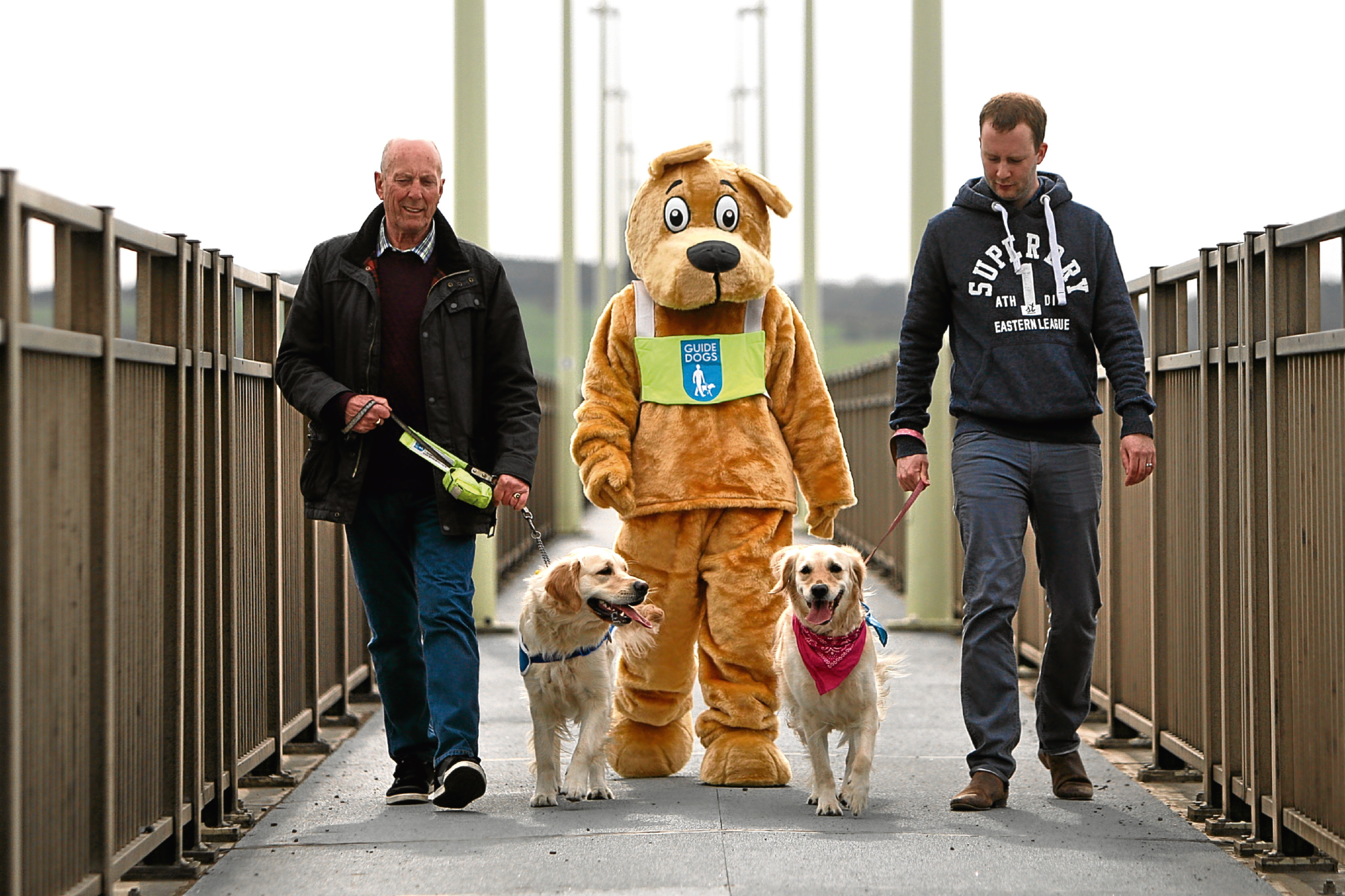Dog walkers at the launch of Taykover in May.