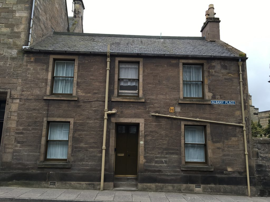 1 Albany Place. Its here in September 1875 that Young Tommy Morris received the devastating news his wife and unborn baby had died