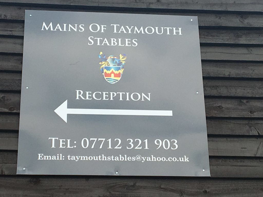 Mains of Taymouth Riding Stables reception at Kenmore