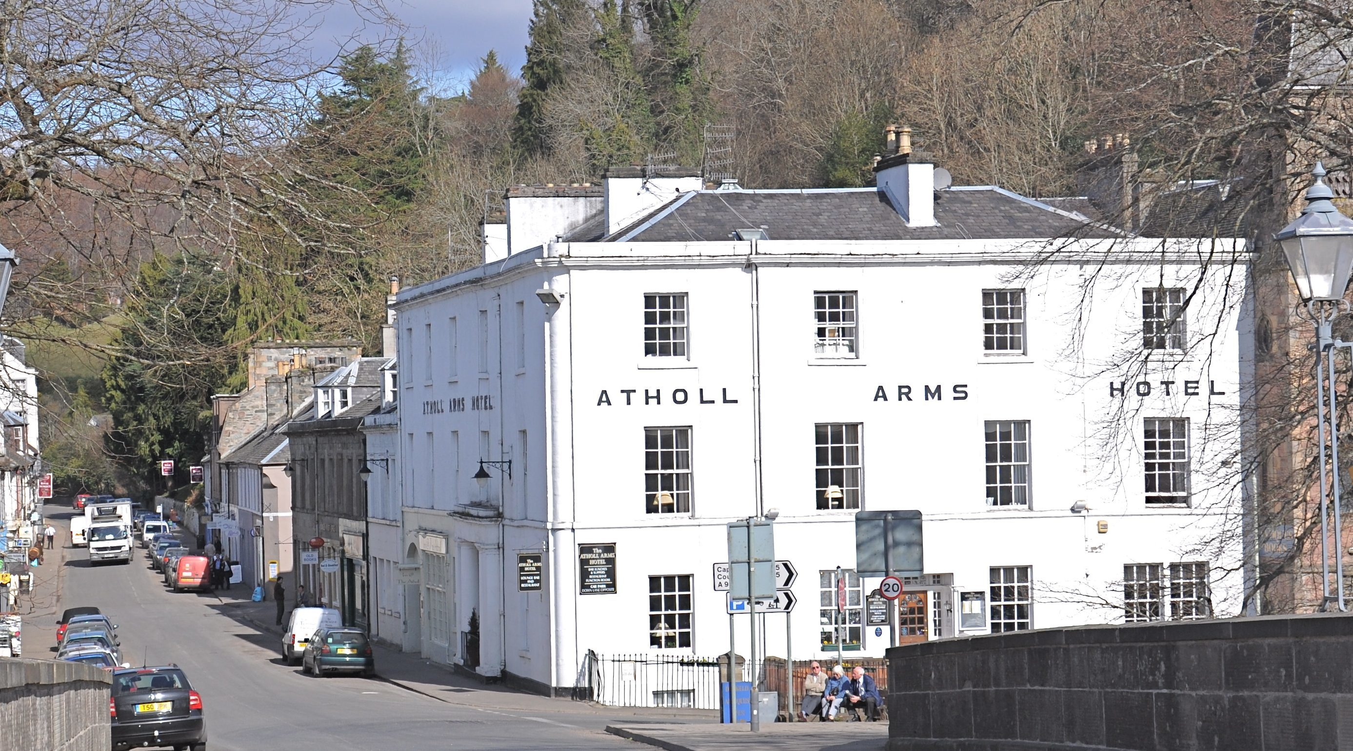 Enjoying a fine location —the Atholl Arms Hotel in Dunkeld.