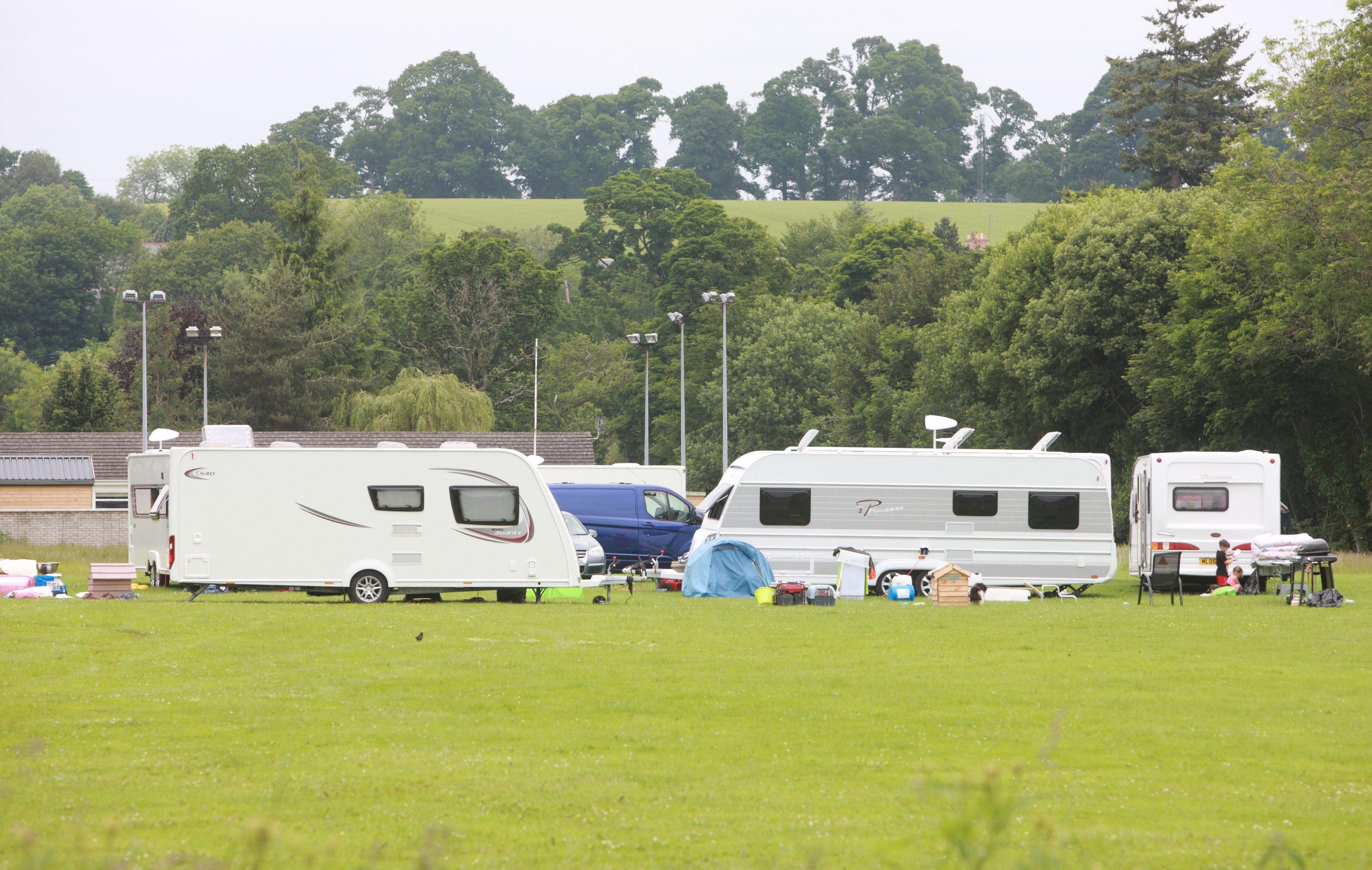The Almondbank encampment.