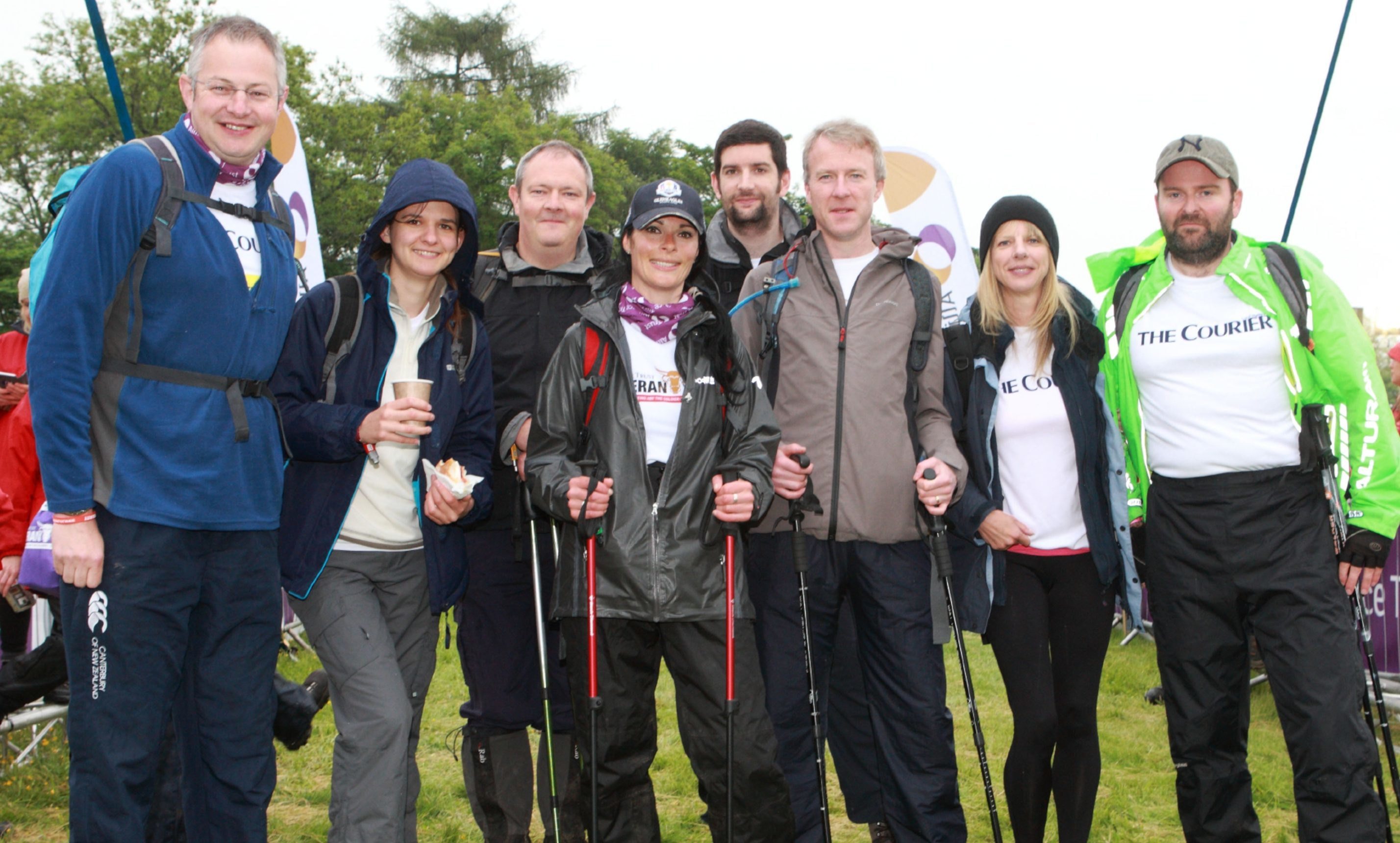 Team Courier at the Cateran Yomp starting line in Blairgowrie in 2016