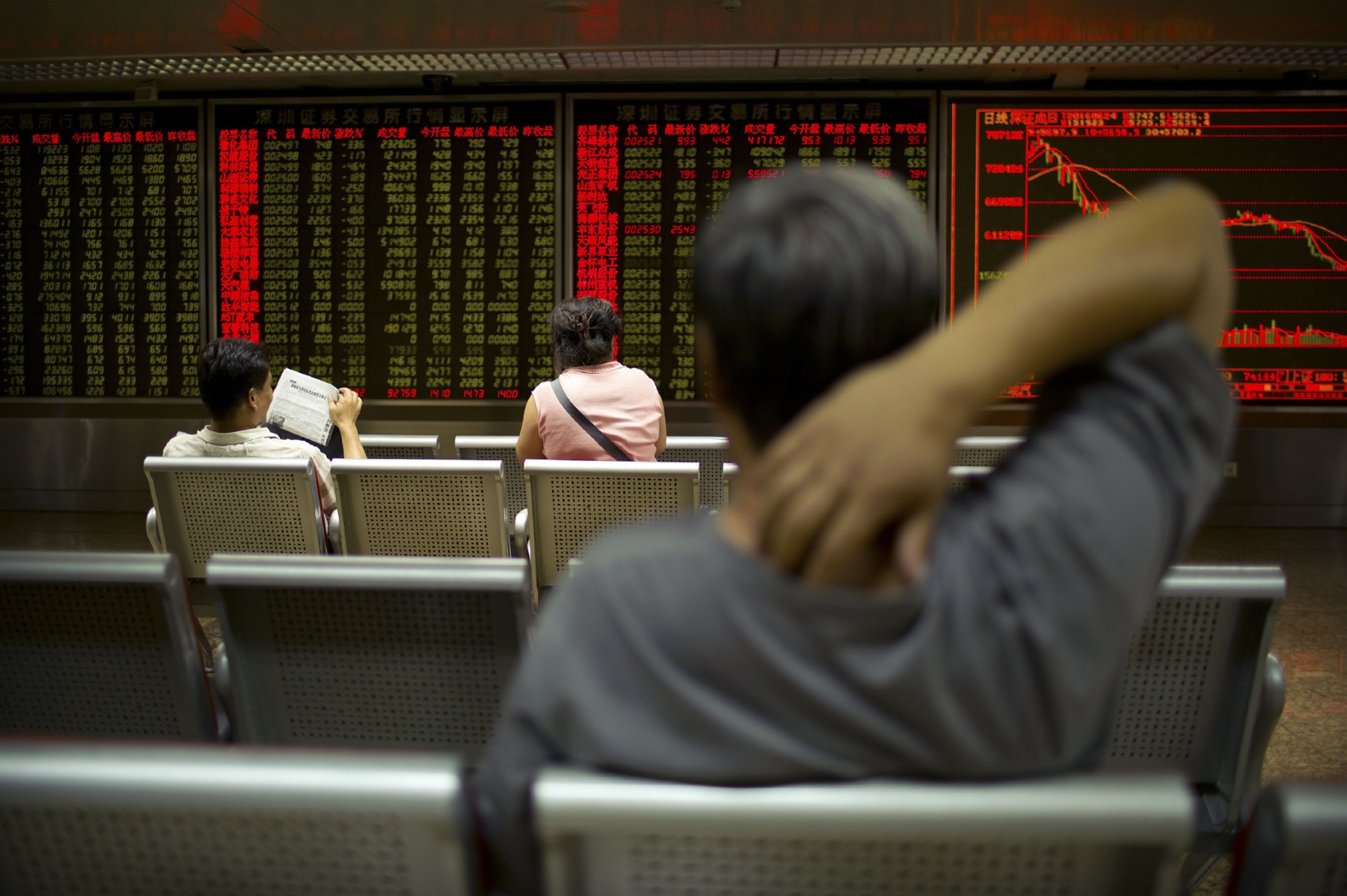 Investors watched as global stock prices slumped on the EU referendum result