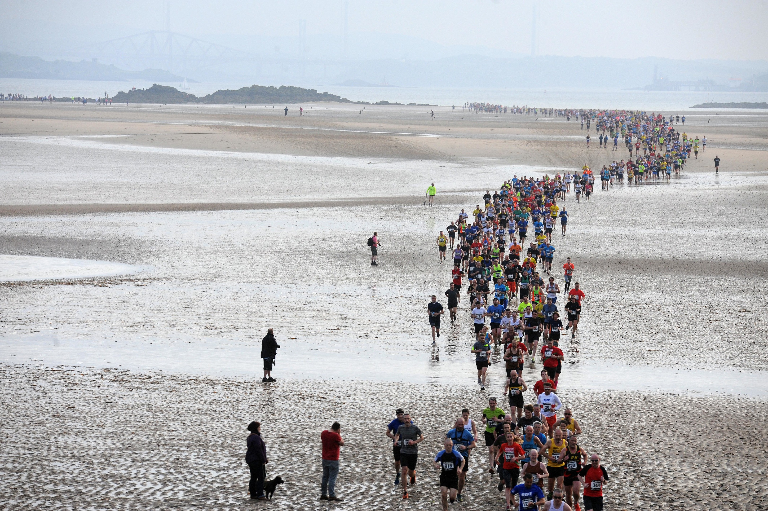 Hundreds took part in the race on the Fife coast.