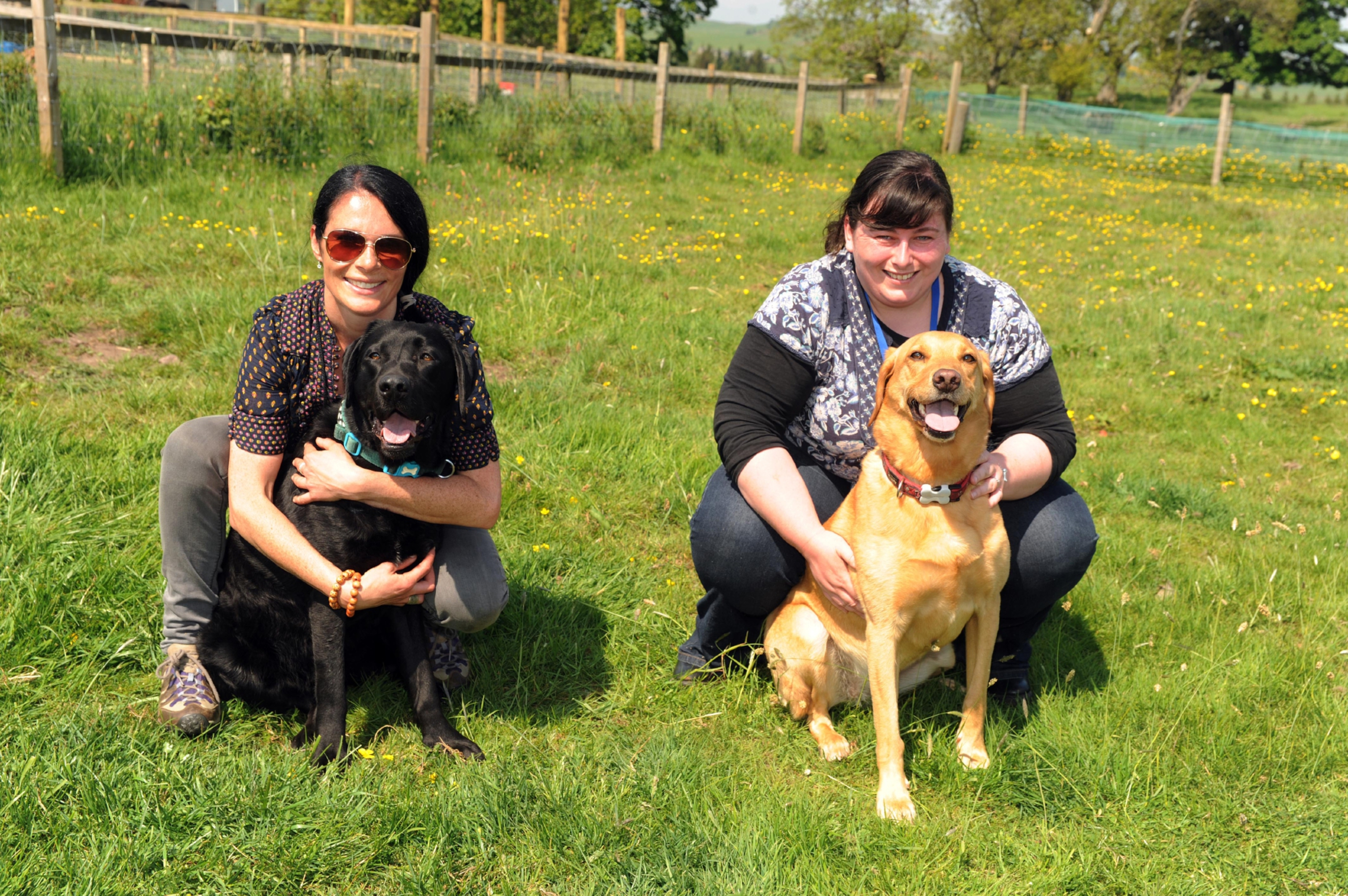 Gayle and Kirsty with Toby and Ruby.