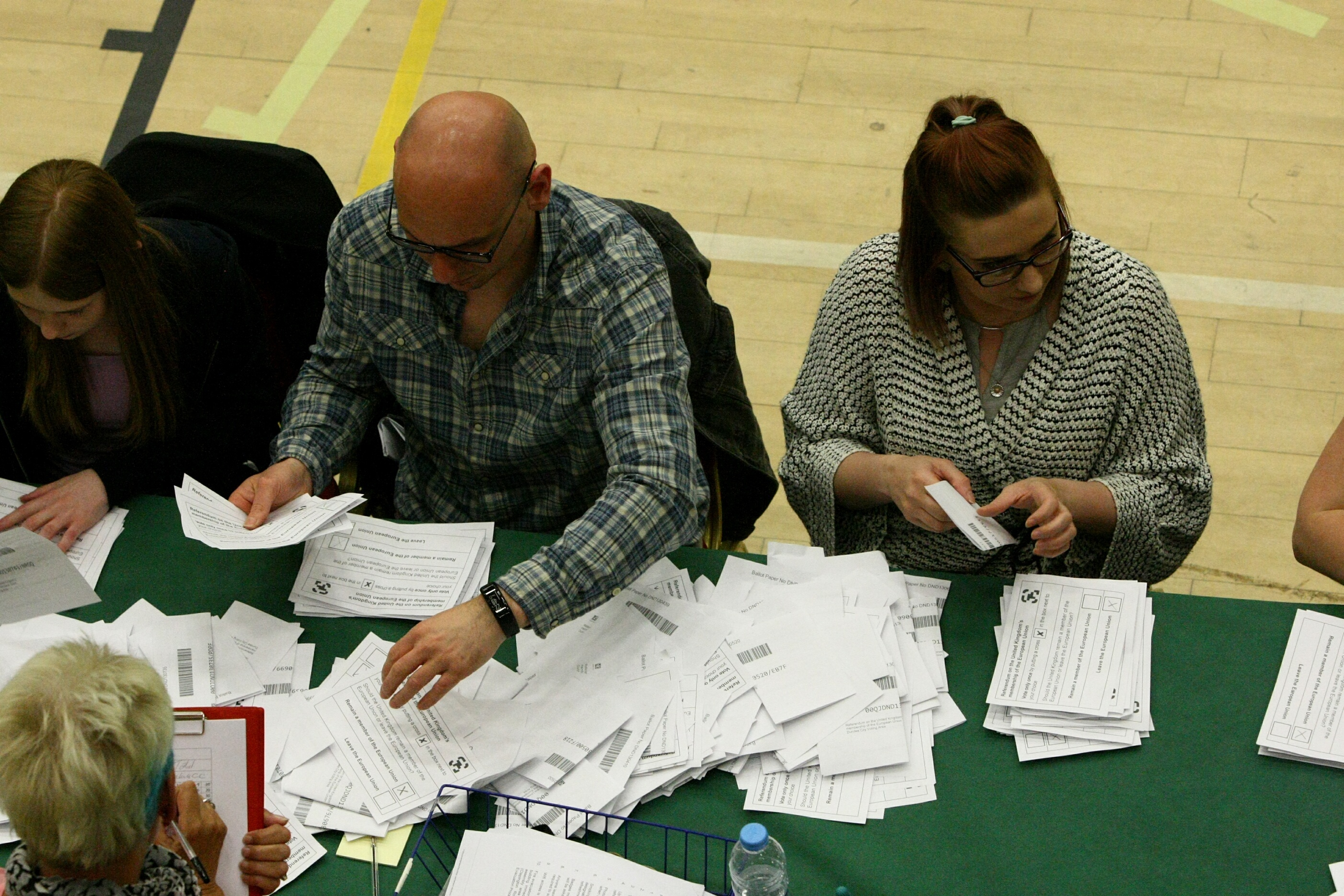 Dundee's count was held at the DISC.