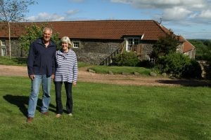 Courier Features - Jack story - House and Home - Lucklaw Steading - Balmullo. This picture is for the House and Home feature. Picture shows Richard and Deirdre Mansbridge outside their home, Lucklaw Steading, near Balmullo today, Monday 20th June 2016.