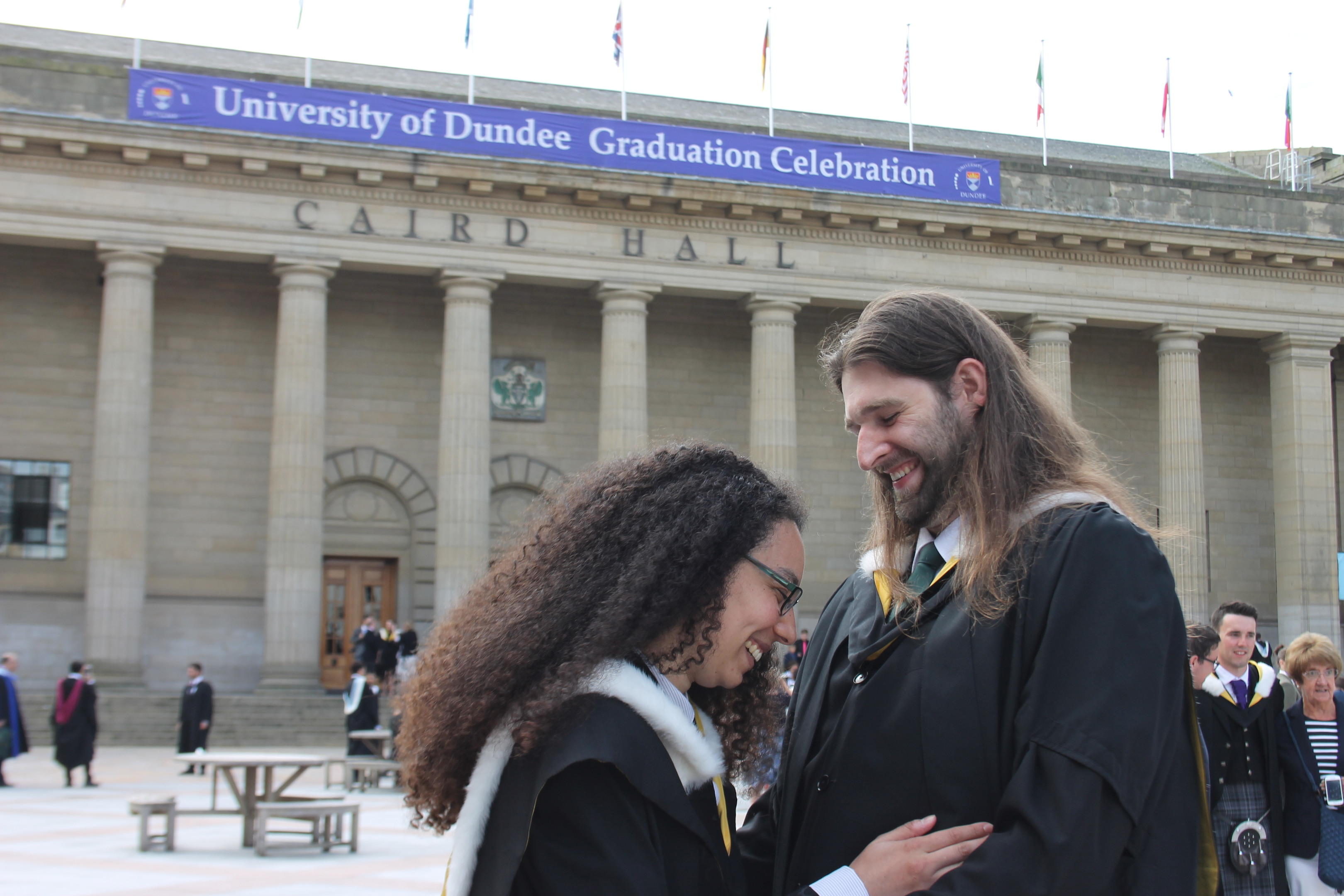 David and Cassie at their graduation.