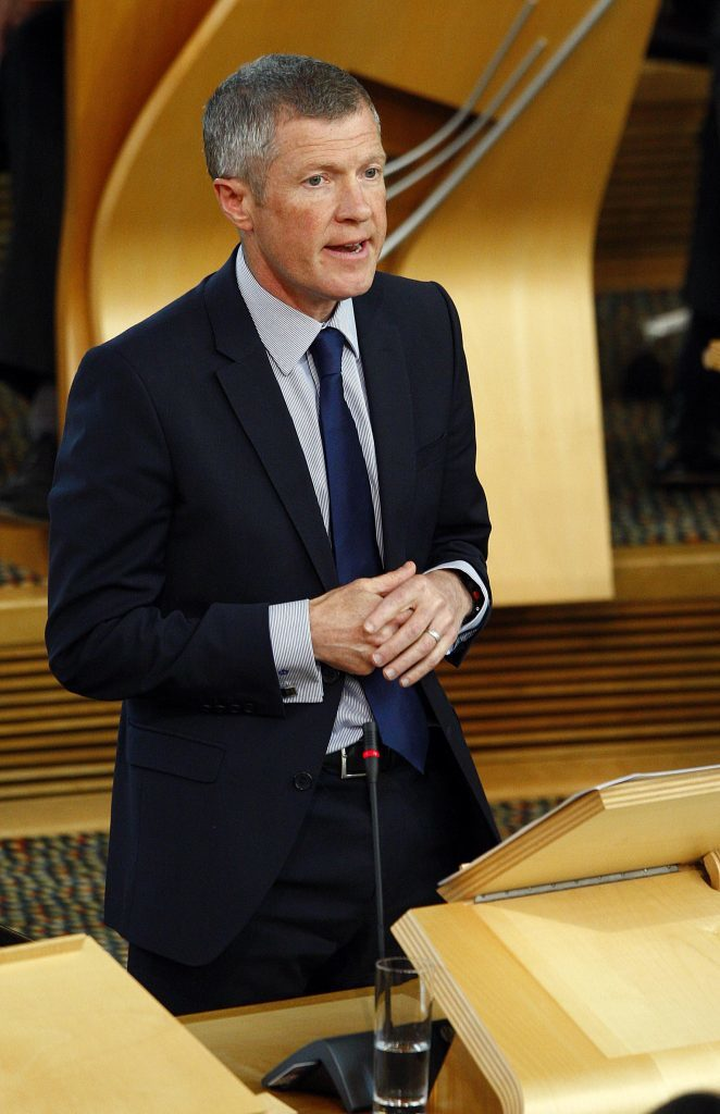 Scottish Liberal Democrat leader Willie Rennie MSP replies to First Minister Nicola Sturgeon's statement to the Scottish Parliament on the Implications of the EU Referendum for Scotland. 28 June 2016. Pic - Andrew Cowan/Scottish Parliament