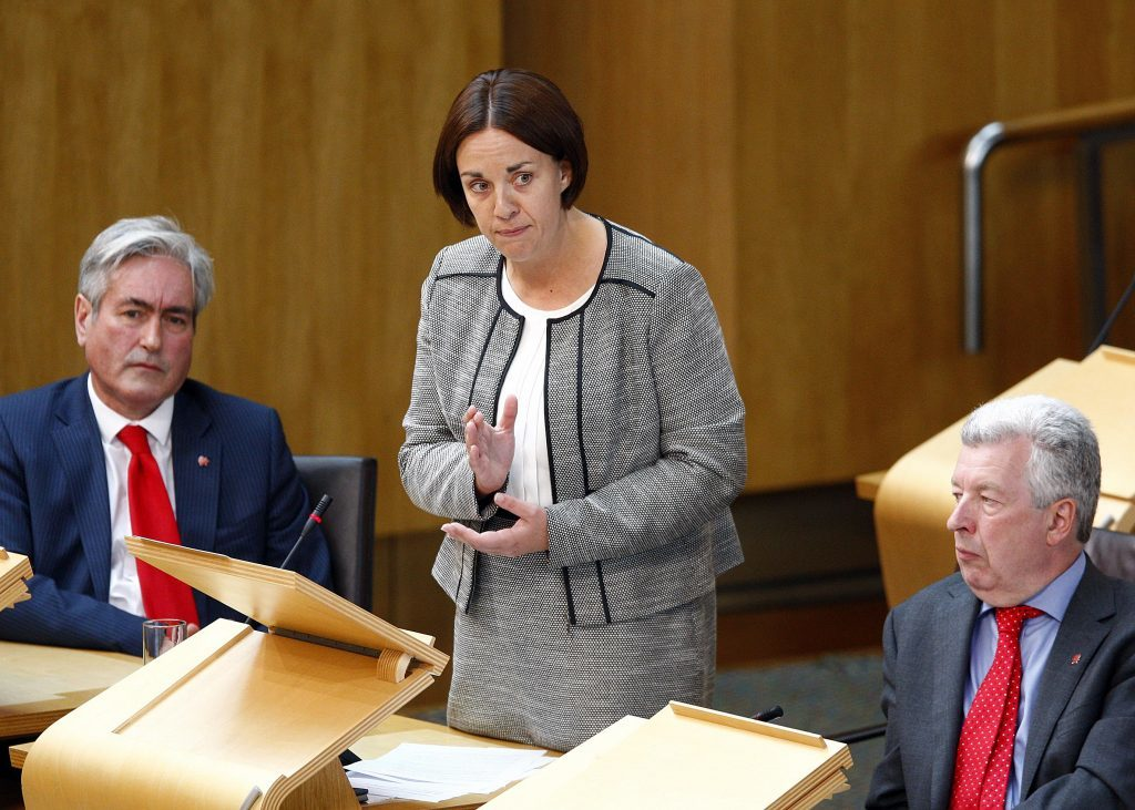 Scottish Labour leader Kezia Dugdale MSP replies to First Minister Nicola Sturgeon's statement to the Scottish Parliament on the Implications of the EU Referendum for Scotland. 28 June 2016. Pic - Andrew Cowan/Scottish Parliament