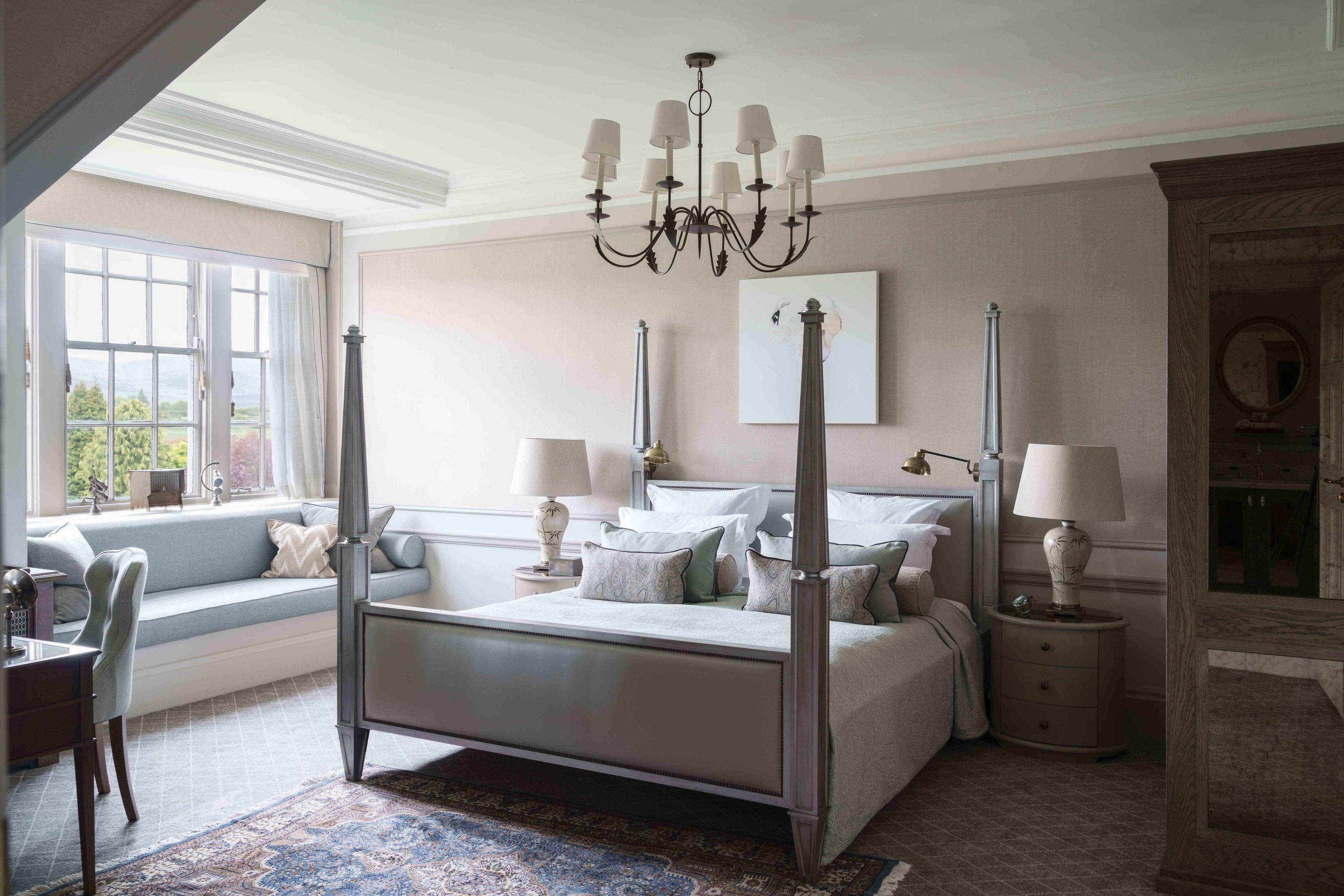 A revamped luxury bedroom.