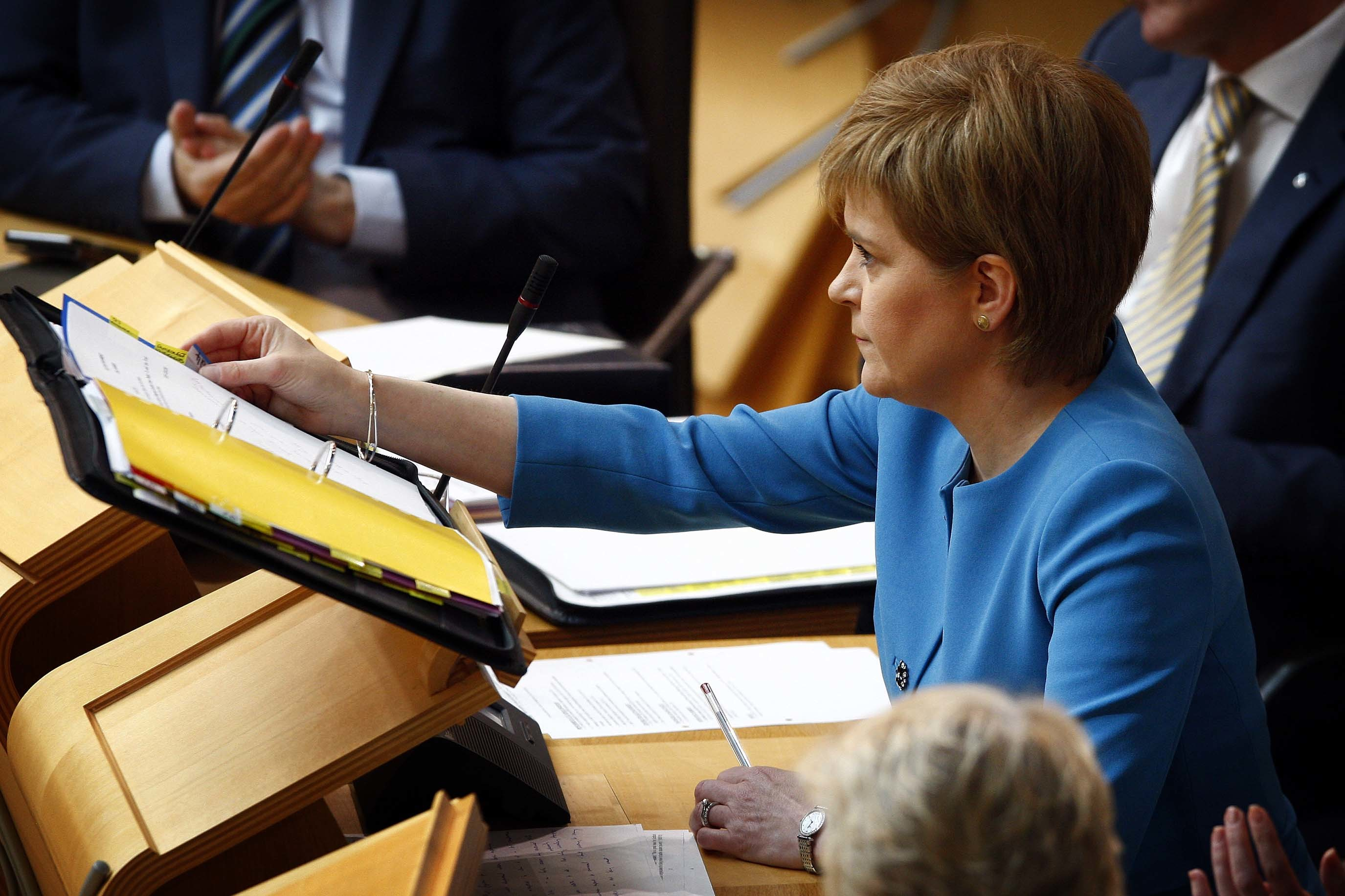 First Minister Nicola Sturgeon at First Minister's Questions.