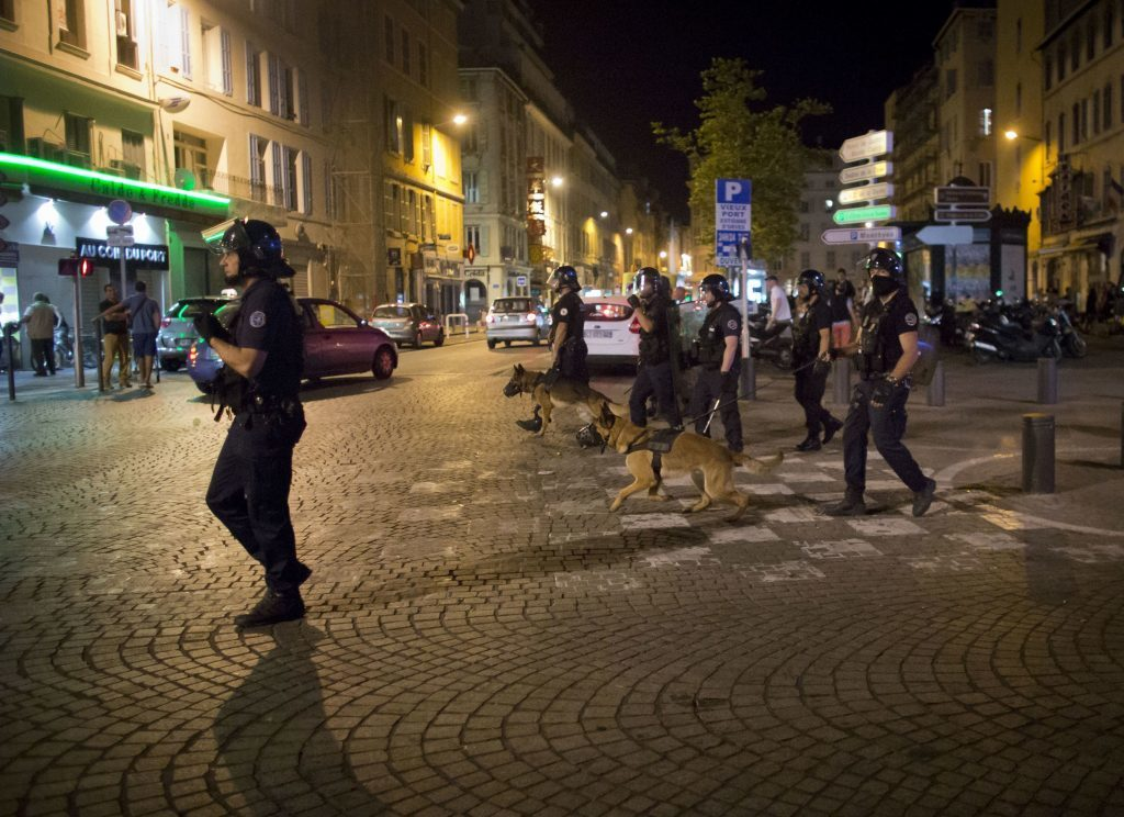 Police patrols.