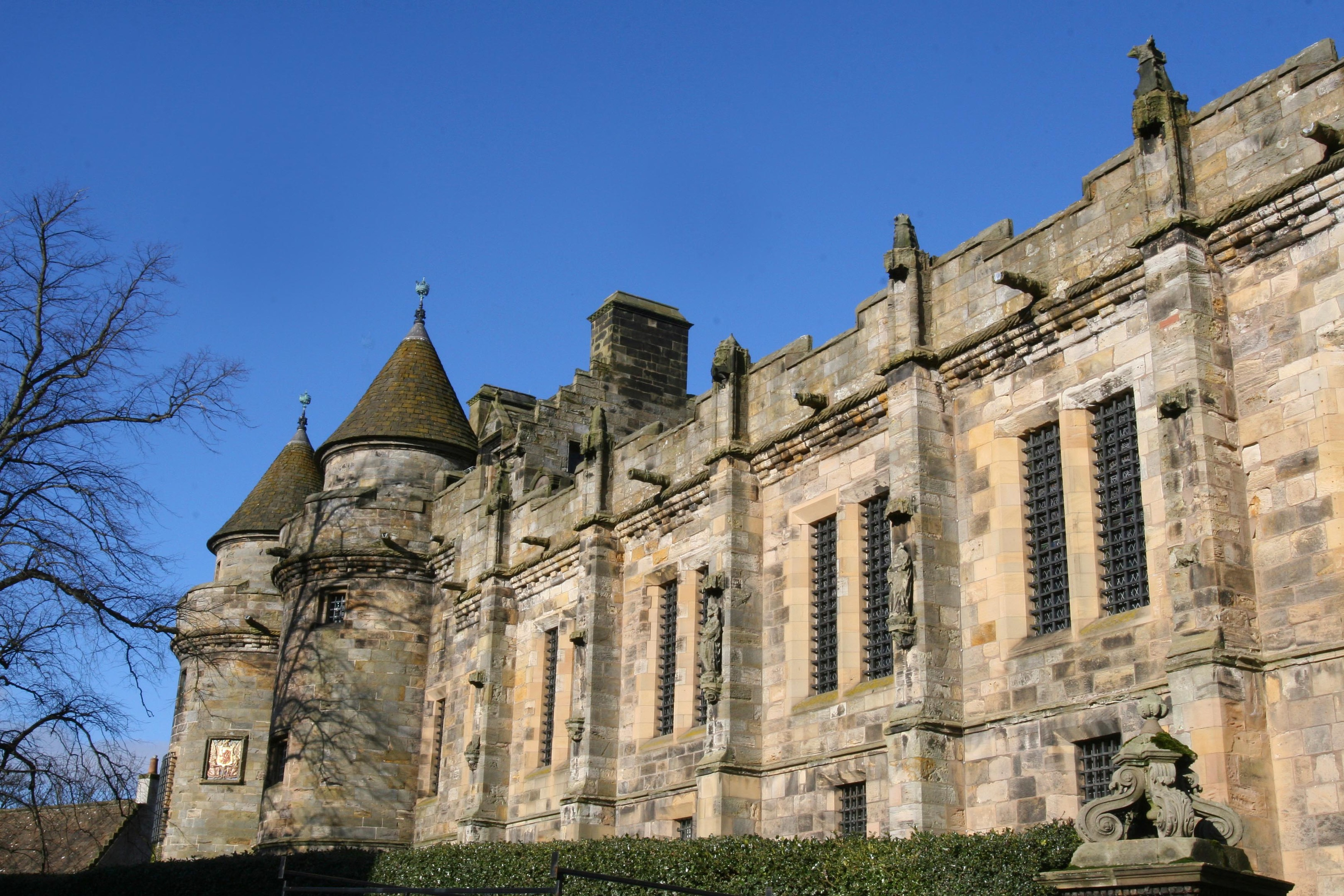 Falkland Palace was used as a royal deer hunting lodge.