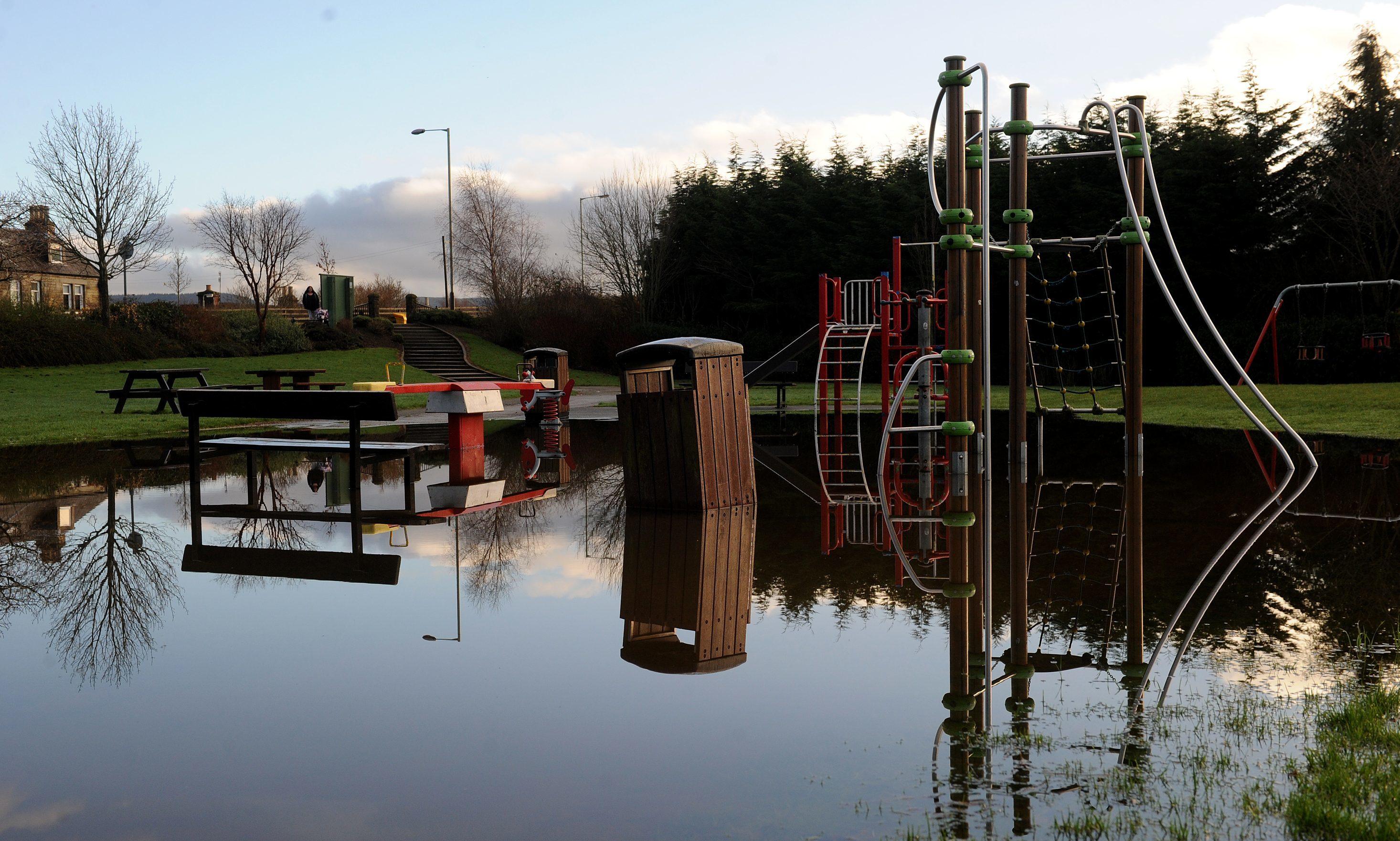 Bridge of Earn was last hit by flooding in June.