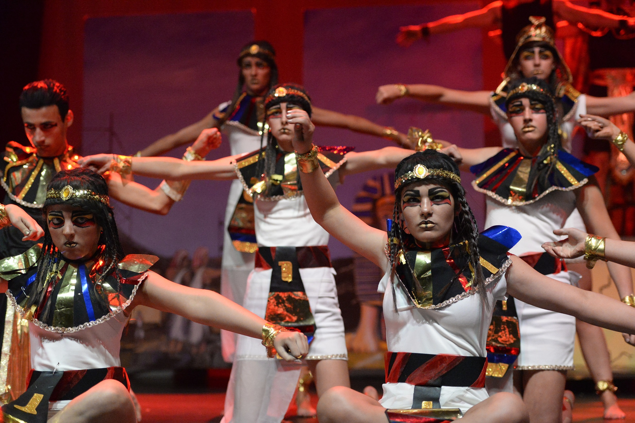 Forfar Academy pupils in action at the Rock Challenge event at Caird Hall in Dundee on Friday