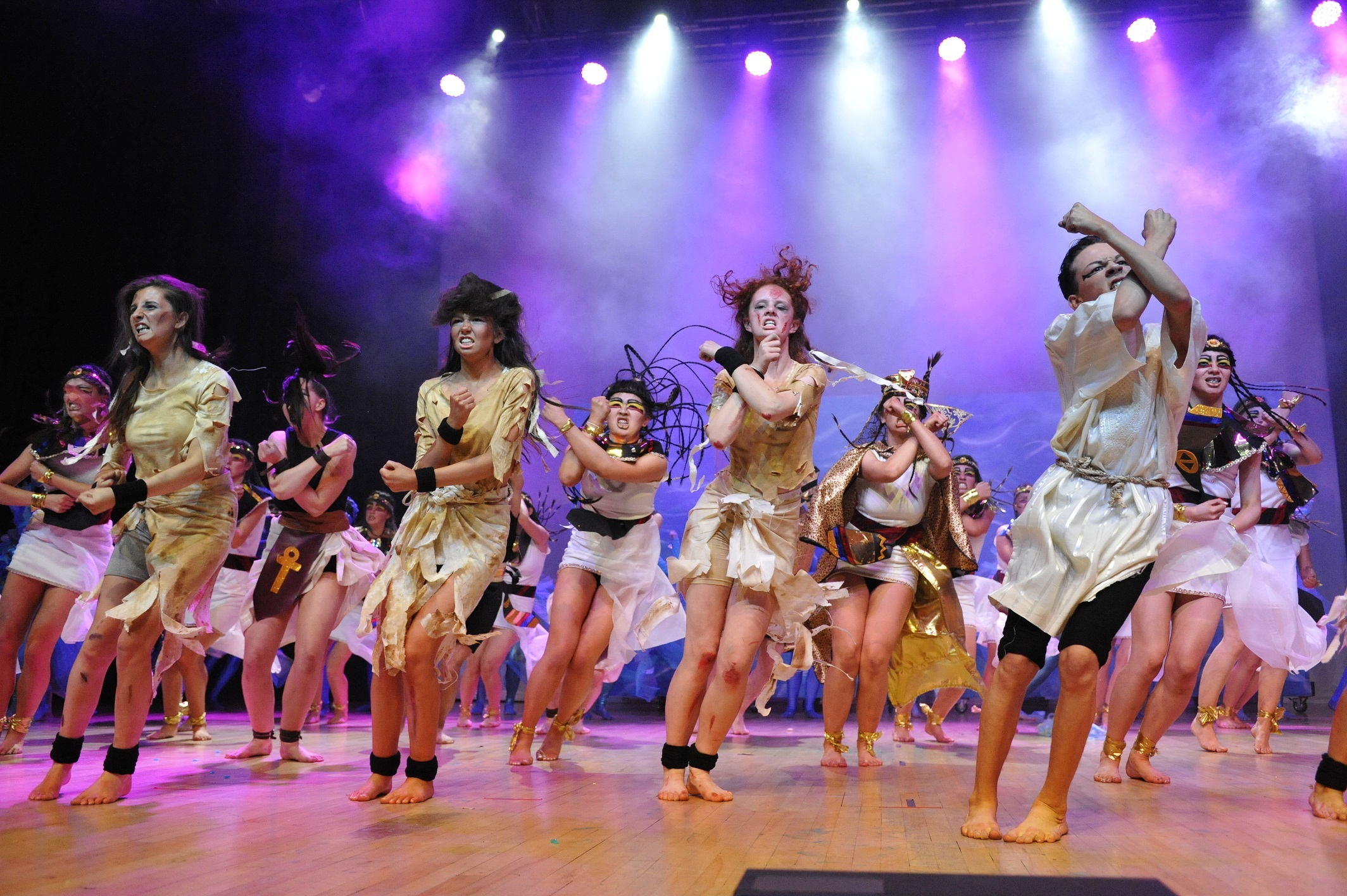 Students from Forfar Academy perform on stage