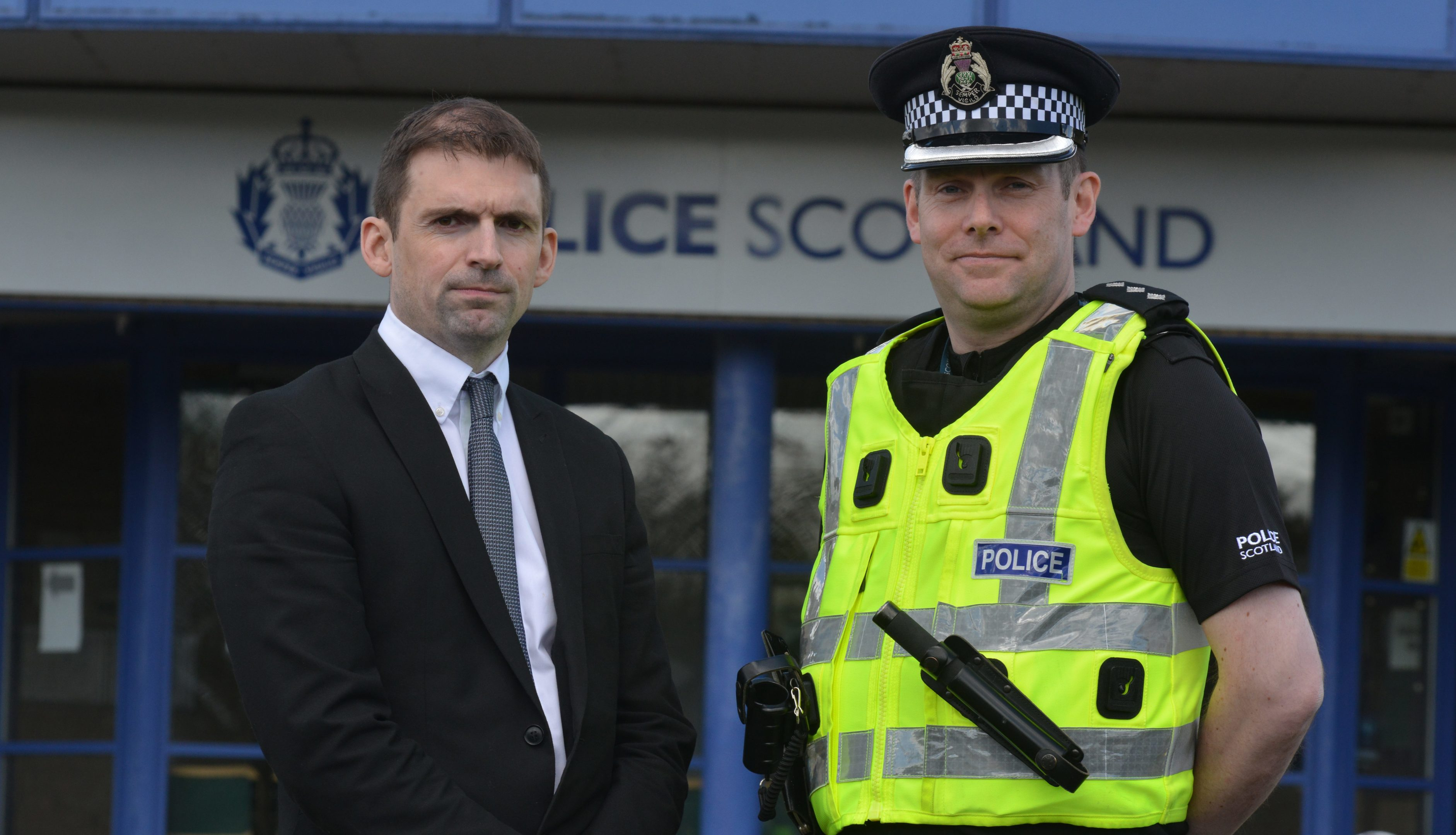 Detective Inspector Steven Sandilands and Chief Inspector Adrian Annandale.