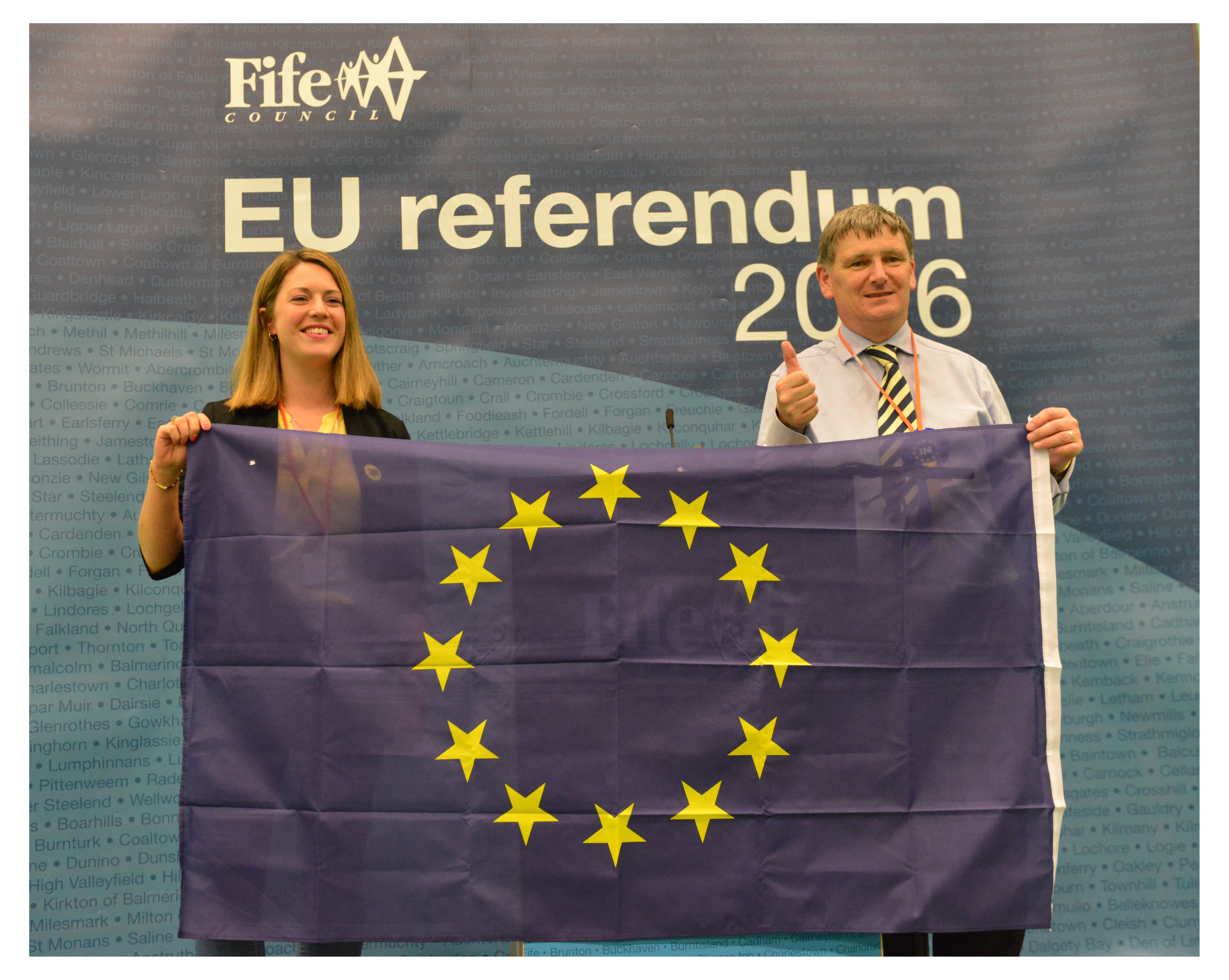 Jenny Gilruth MSP and Peter Grant MP were delighted by the Fife result.