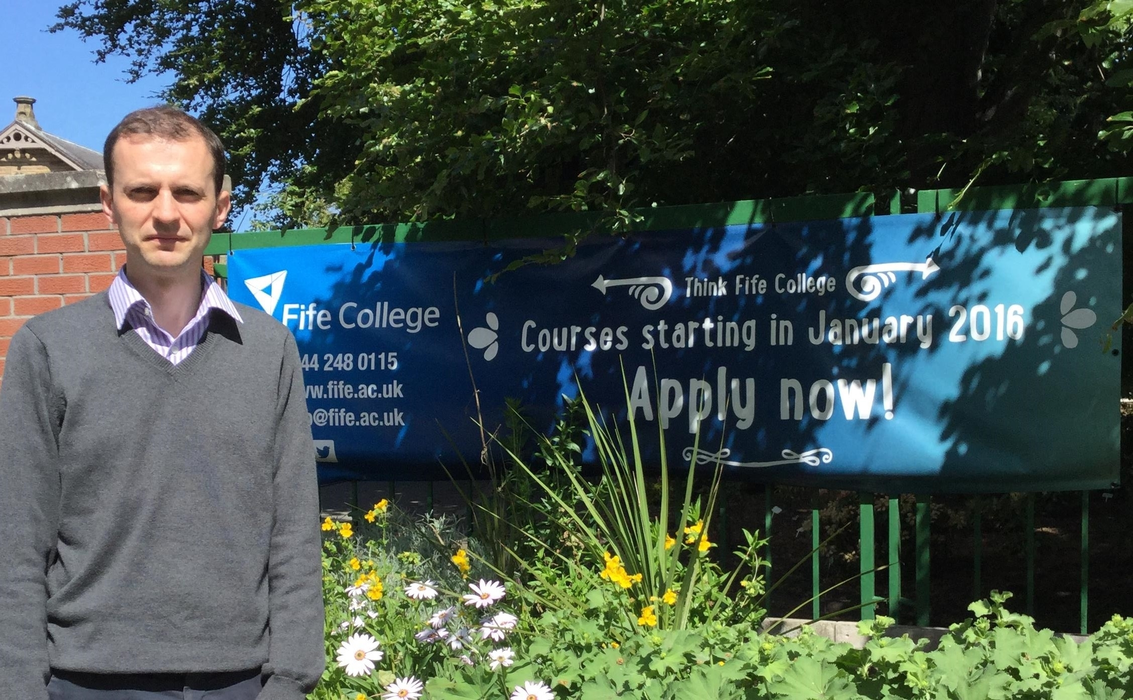 North East Fife MP Stephen Gethins is raising concerns about further education provision in his constituency.