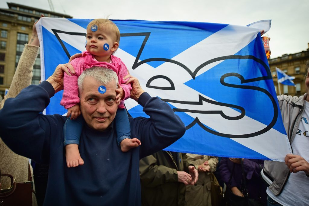 The EU referendum result has seen more people favour Scottish independence.