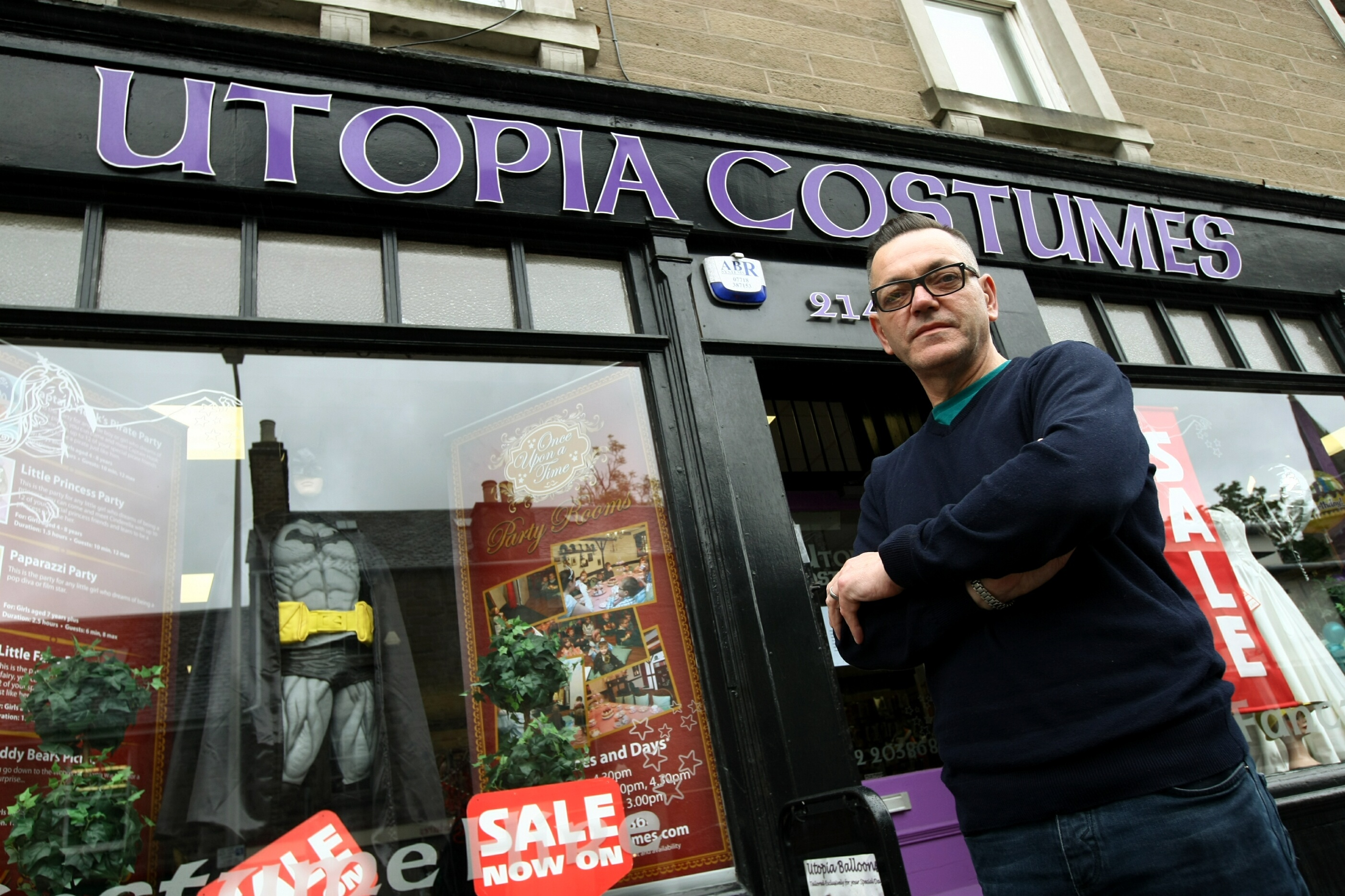 Gordon Philip, owner of Utopia which is closing down on Saturday.