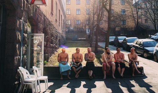 Sauna time in Helsinki.