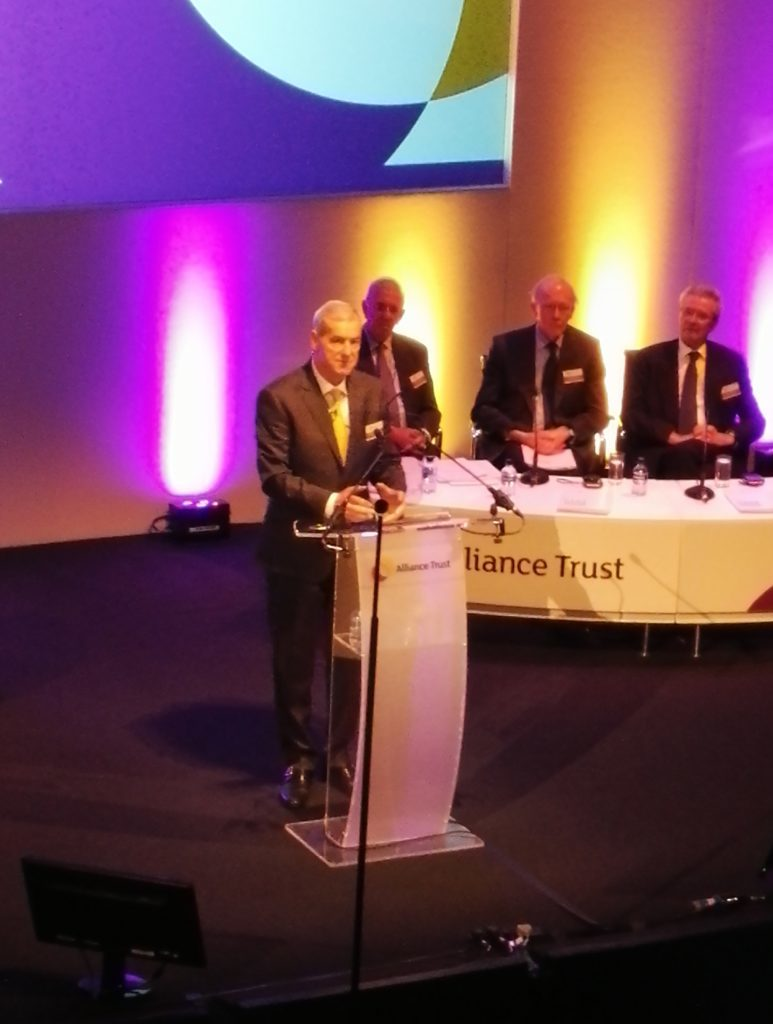 Alliance Trust's restructuring has accelerated under ne chairman Lord Smith of Kelvin