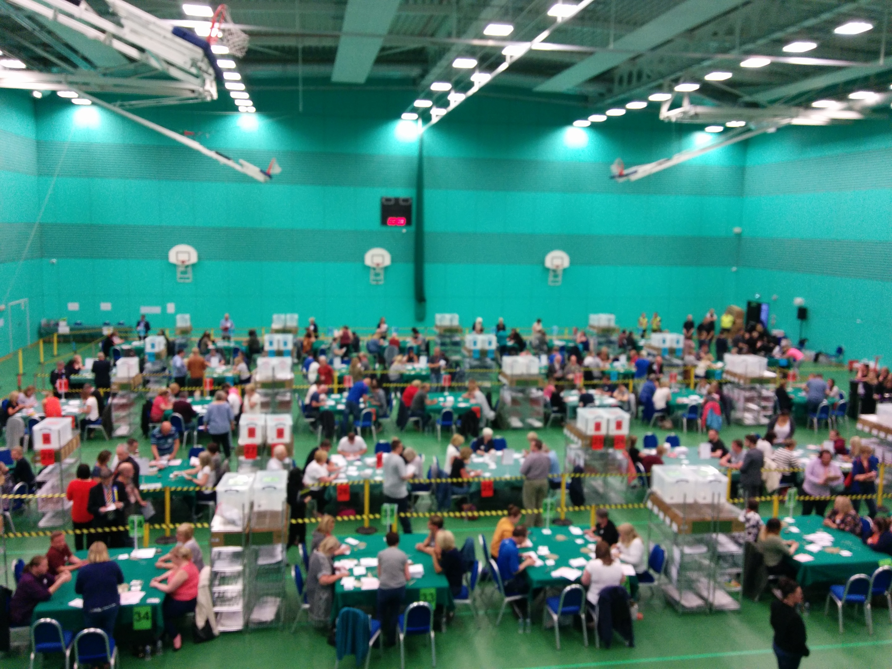 The count underway at the Michael Woods Centre in Glenrothes.